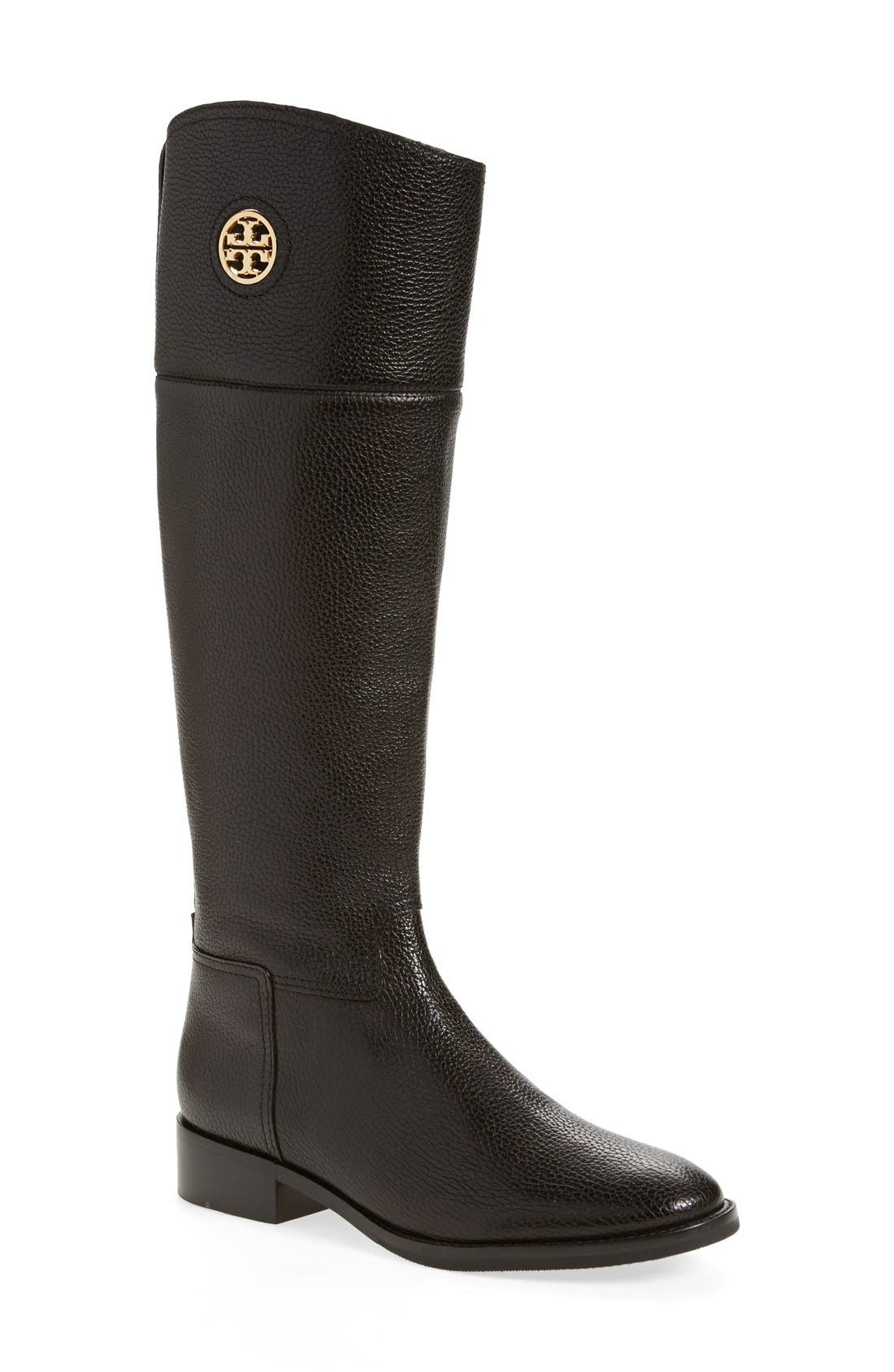 Alternate Image 1 Selected - Tory Burch 'Junction' Riding Boot (Women) (Wide Calf)