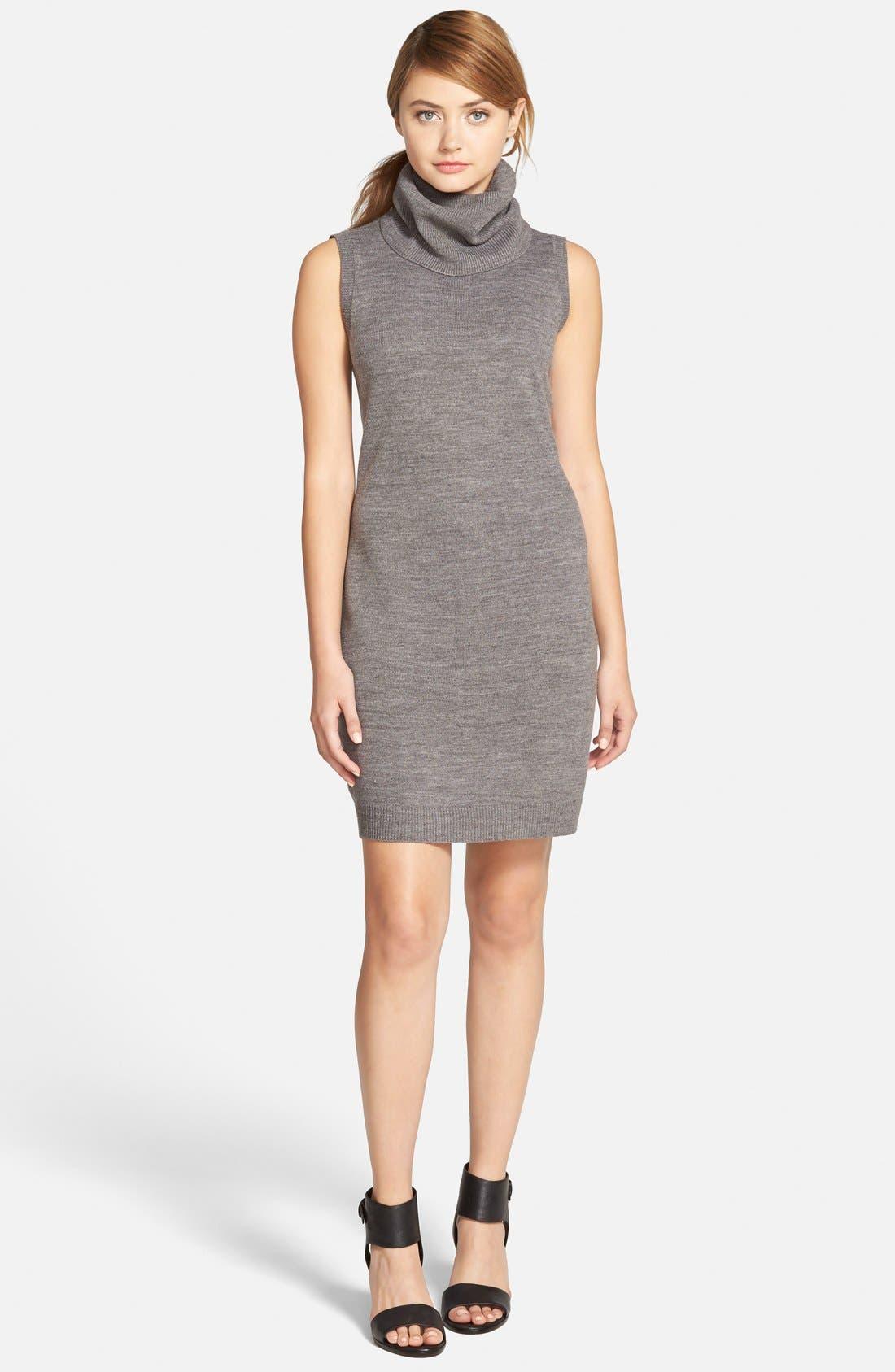 'Mandeville' Sweater Dress,                         Main,                         color, Med Heather