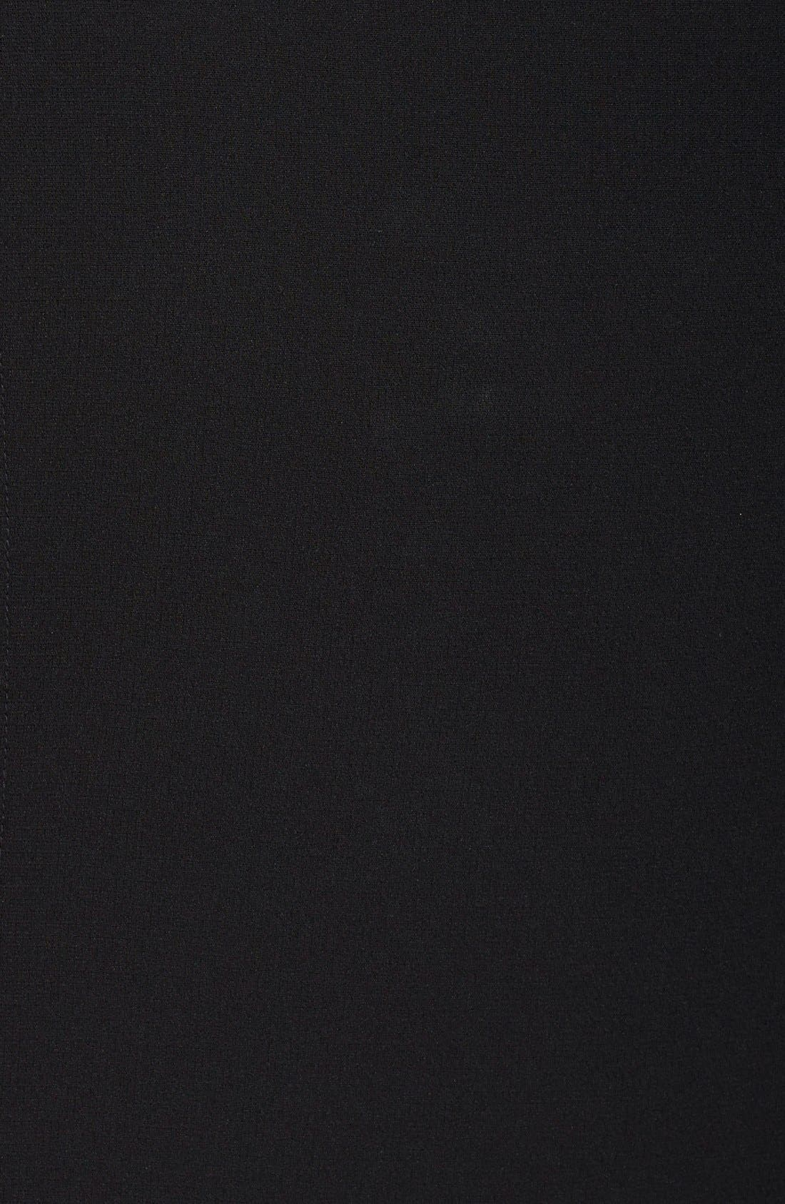 Sleeveless Suiting Sheath Dress,                             Alternate thumbnail 3, color,                             Black