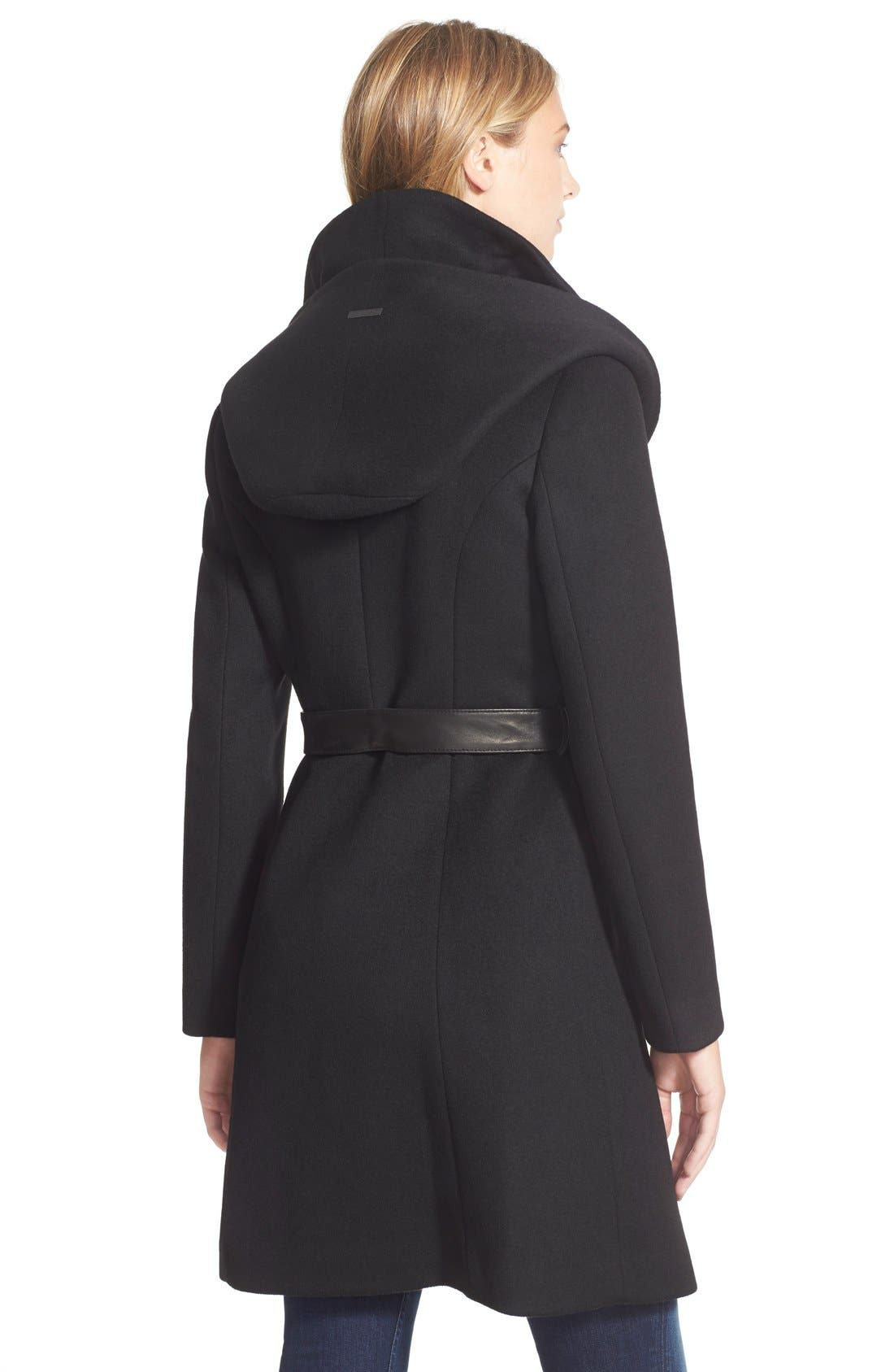 Alternate Image 2  - Soia & Kyo 'Arya' Hooded Wool Blend Coat with Belt
