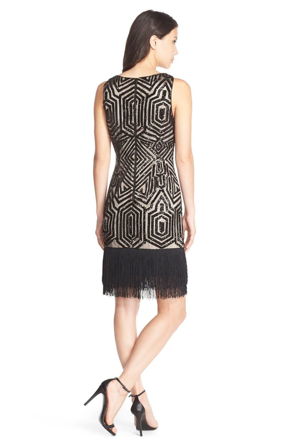 Alternate Image 2  - Vince CamutoSequin & Fringe Sheath Dress