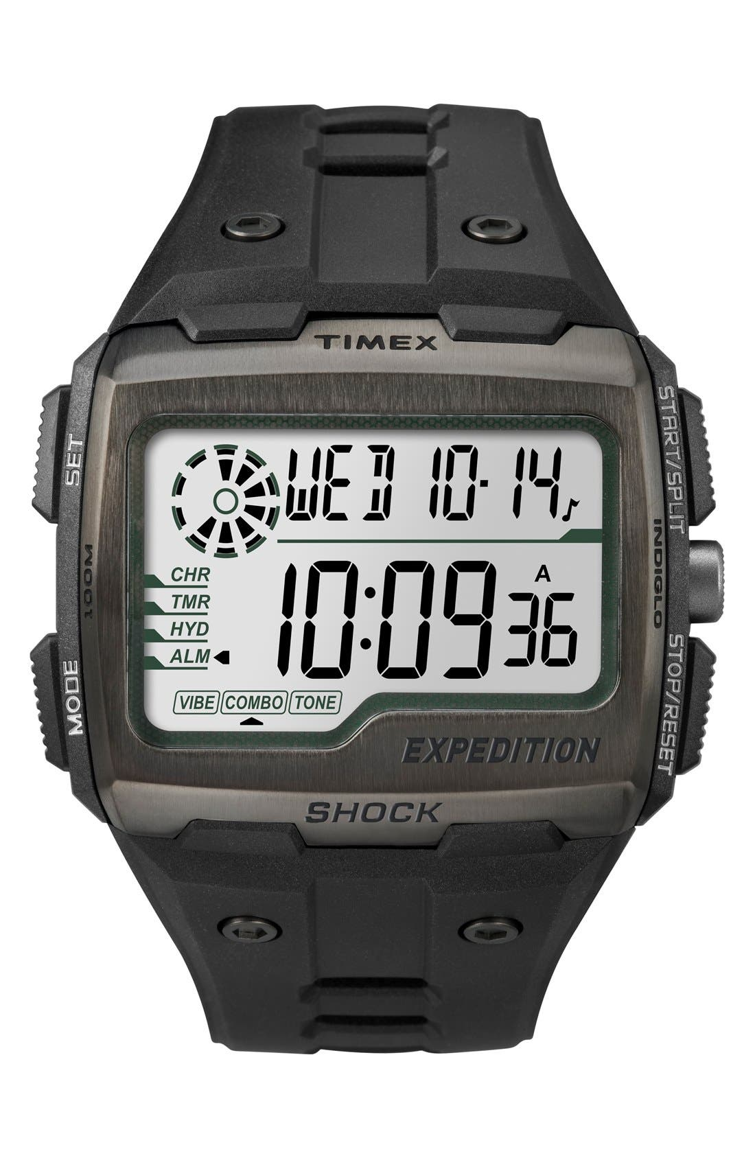 Resin Digital Watch, 50mm,                         Main,                         color, Black
