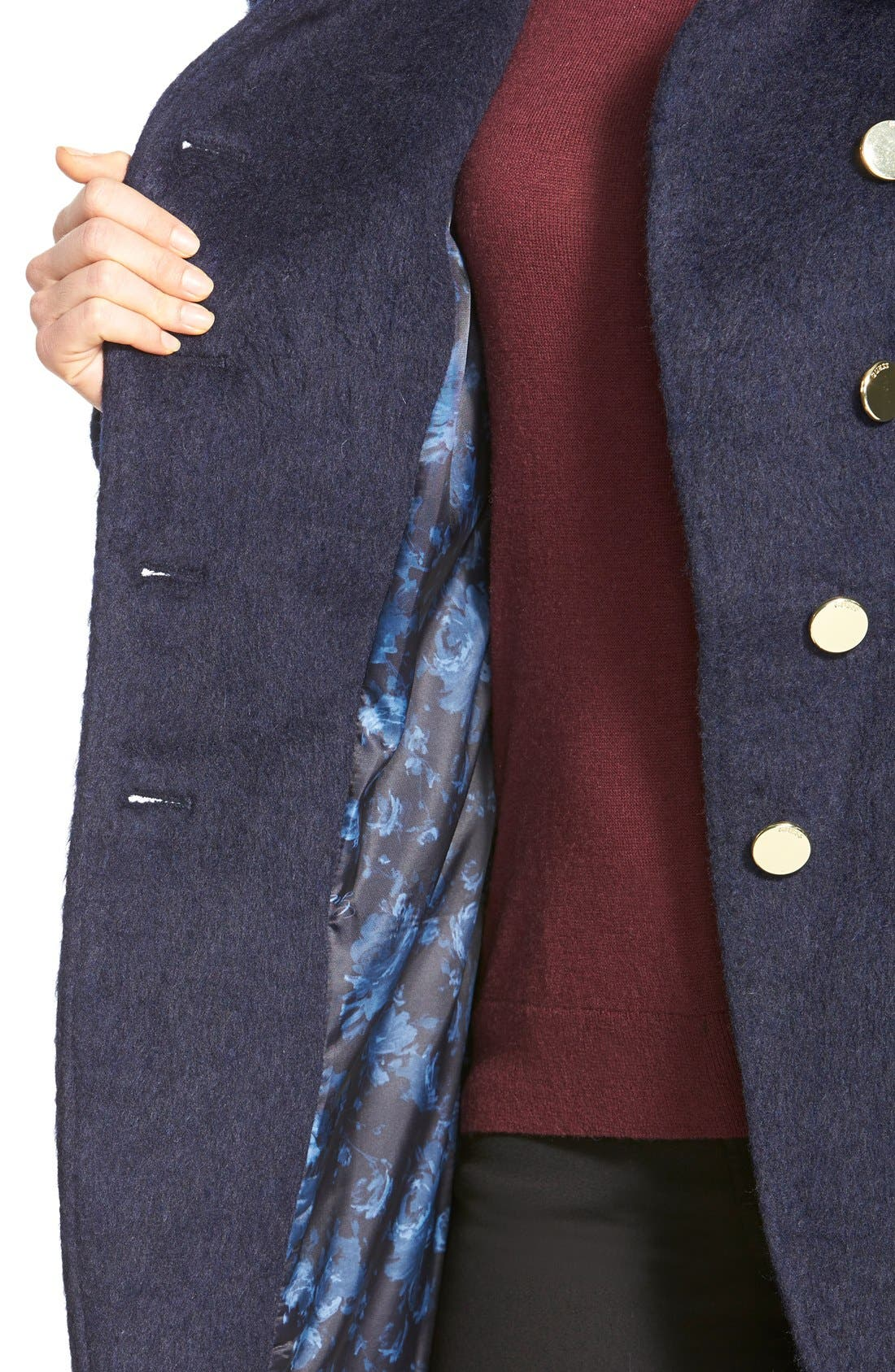 Alternate Image 4  - GUESS Asymmetrical Cutaway Coat