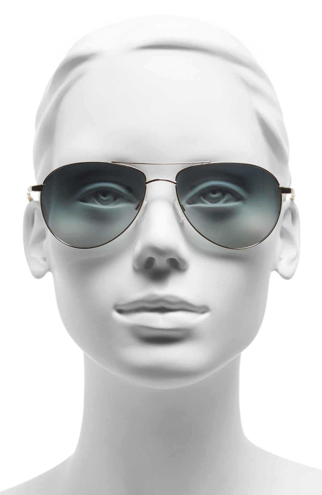 Alternate Image 2  - Oliver Peoples 'Benedict' 59mm Aviator Sunglasses