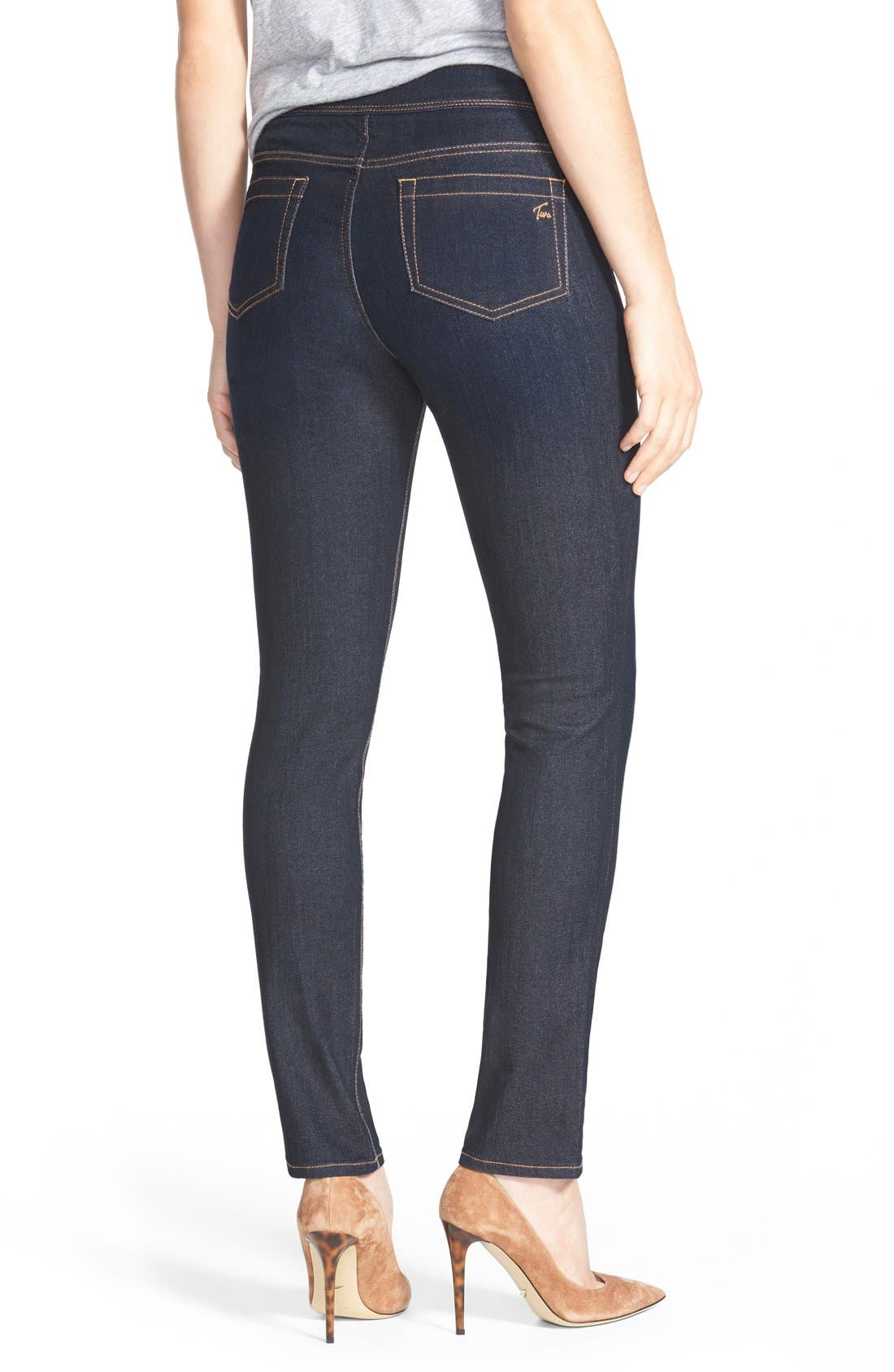 Alternate Image 2  - Two by Vince Camuto Stretch Denim Leggings