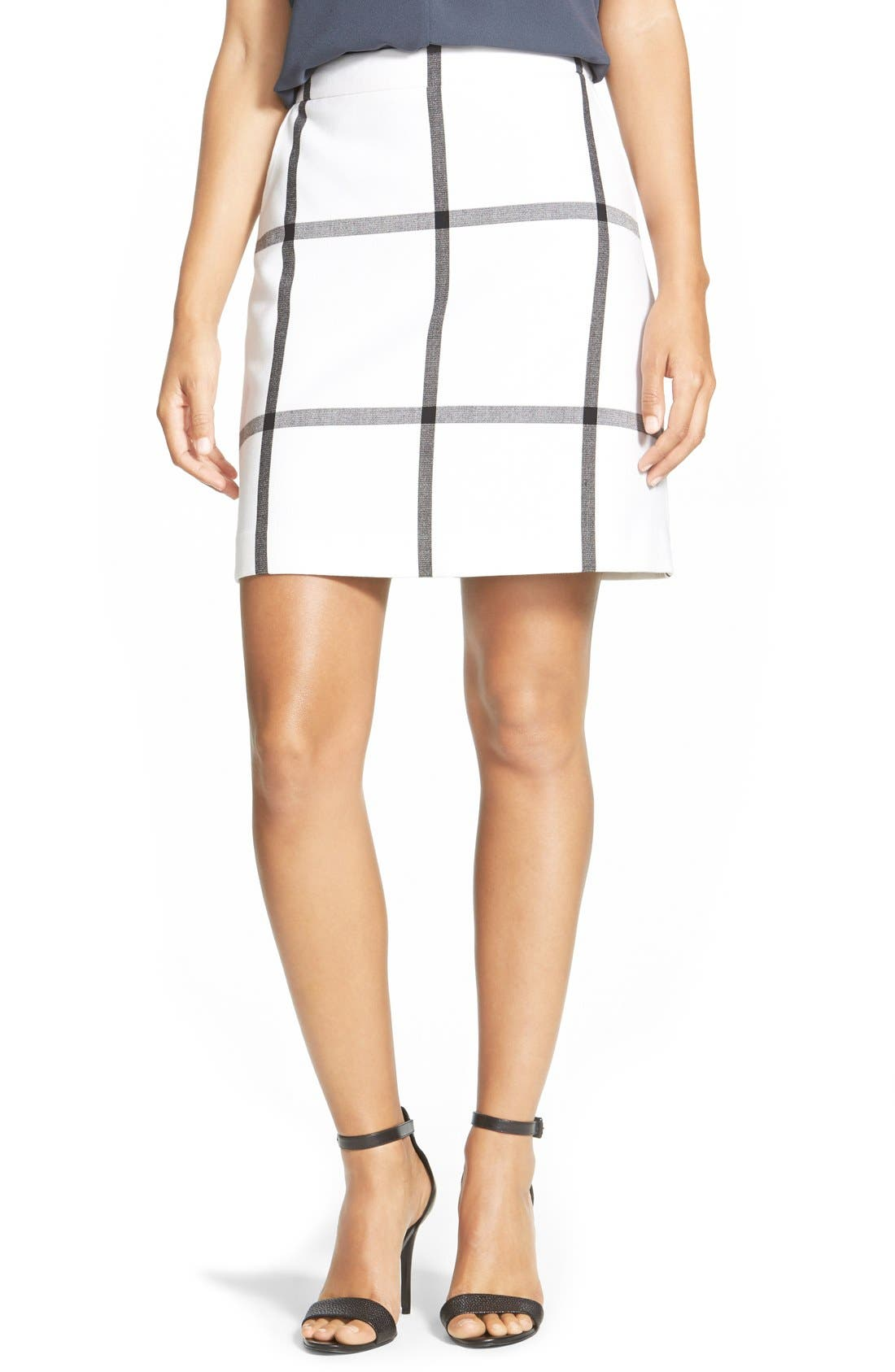 Alternate Image 1 Selected - Halogen® Pleat Front A-Line Skirt