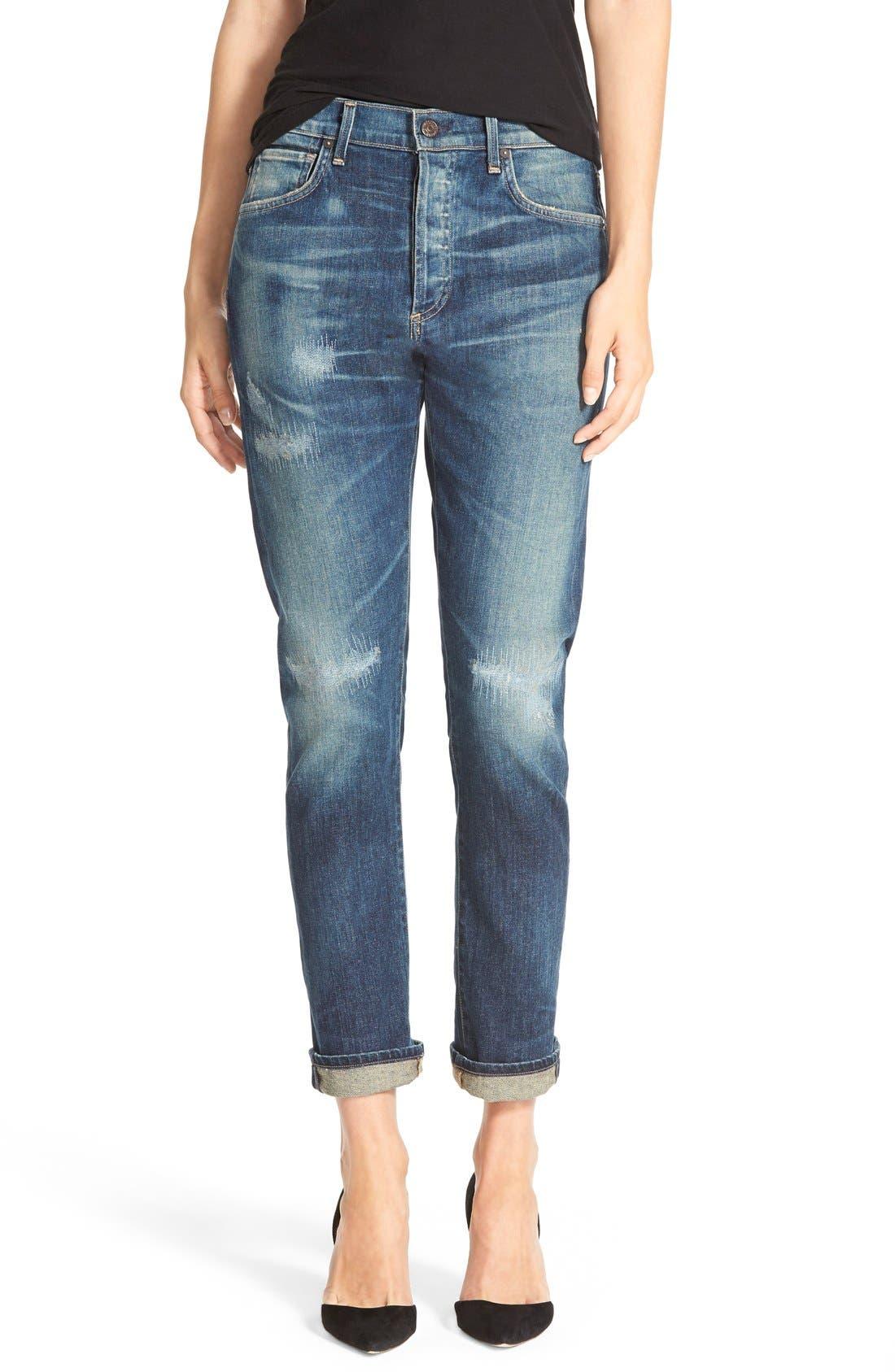 'Corey' Slouchy Slim Jeans,                             Main thumbnail 1, color,                             Hayward