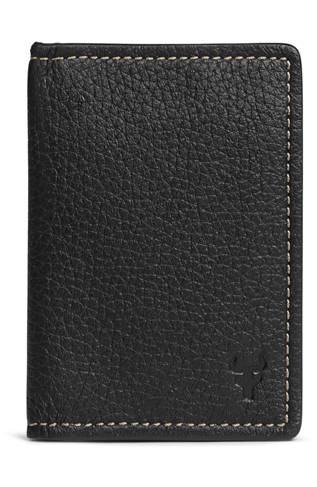 'Jackson' Folding Card Case,                         Main,                         color, Black