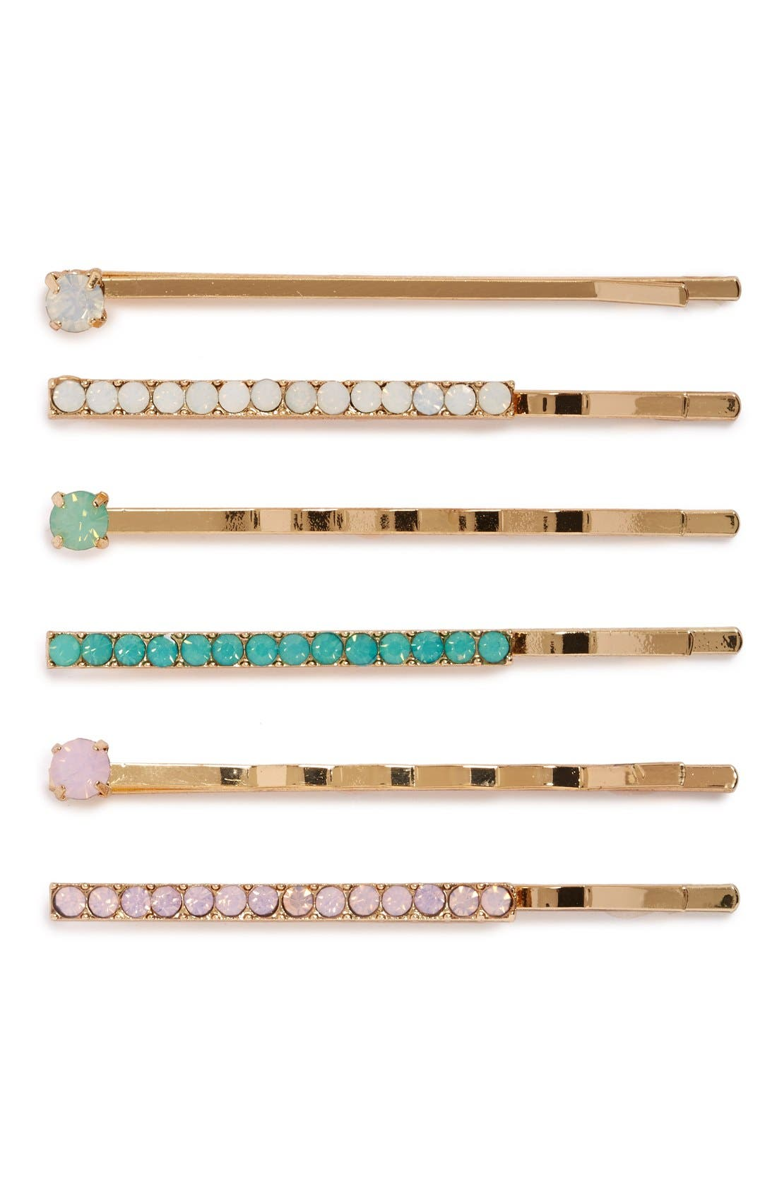 Alternate Image 1 Selected - BP. Crystal & Pearly Bead Bobby Pins (5-Pack)