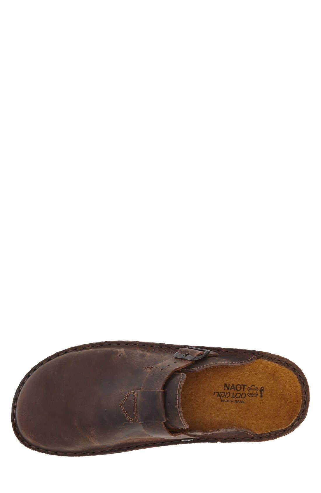 Fiord Clog,                             Alternate thumbnail 3, color,                             Brown Leather