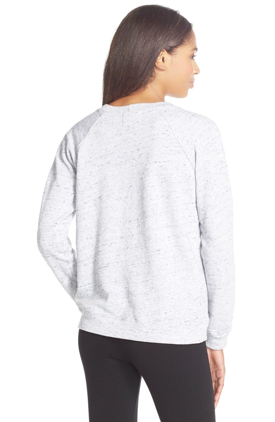 Alternate Image 2  - Monrow'City' Embroidered Pullover Sweatshirt