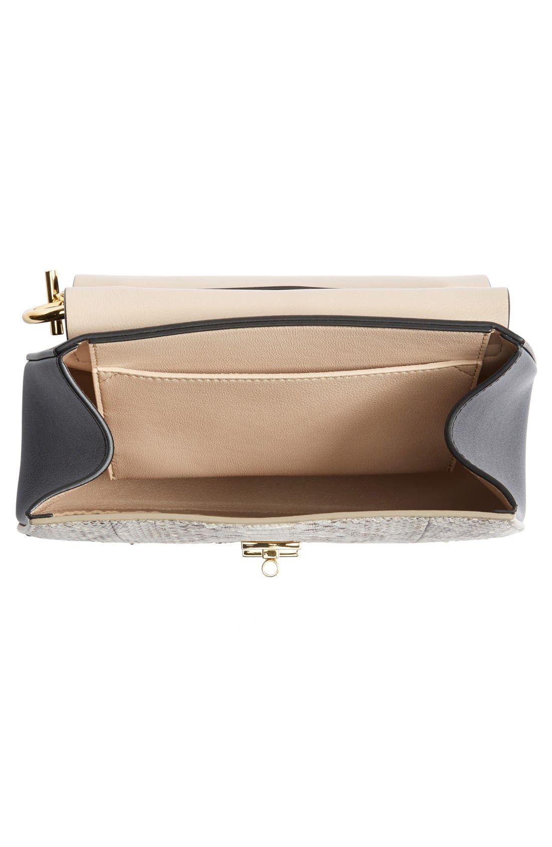 Alternate Image 4  - Chloé'Small Drew' Genuine Python & Calfskin Leather Crossbody Bag
