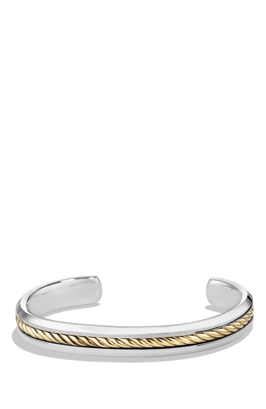 Main Image - David Yurman 'Cable Classics' Cuff Bracelet with Gold