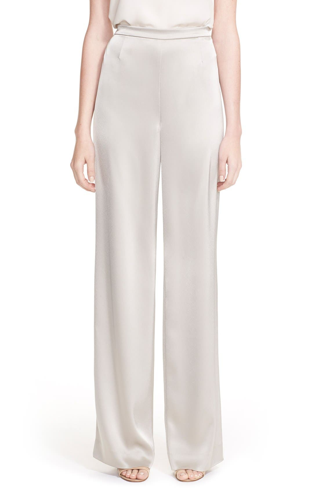 Alternate Image 1 Selected - St. John Collection 'Kate' Liquid Satin Pants