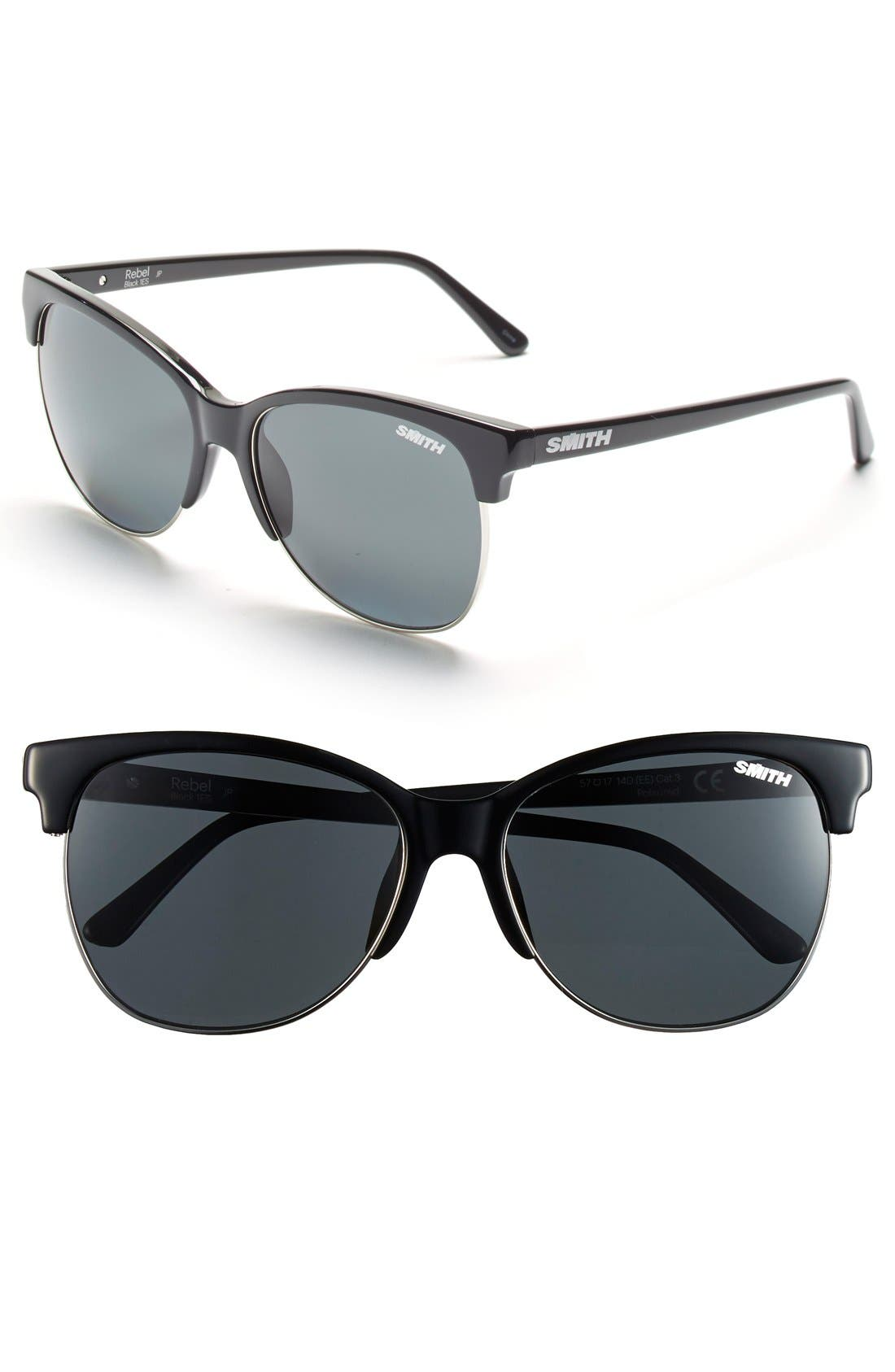 SMITH Rebel 57mm Cat Eye Sunglasses