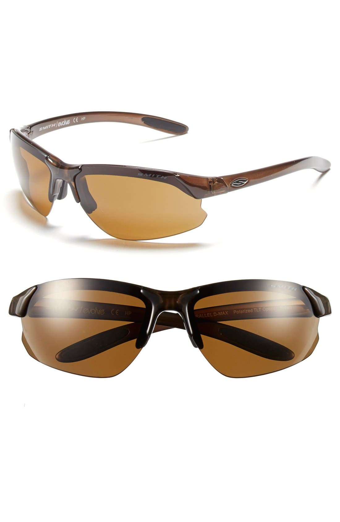 'PARALLEL D MAX' 65MM POLARIZED SUNGLASSES - BROWN/ POLAR BROWN/ CLEAR