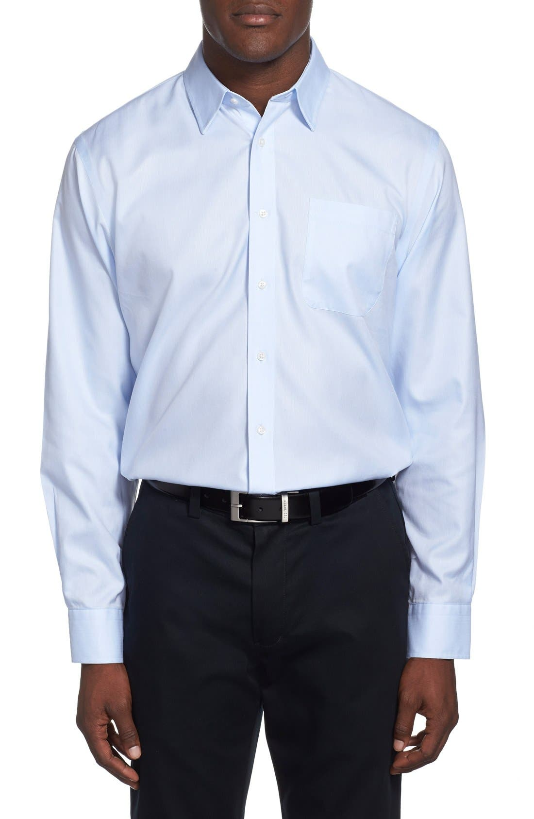 Alternate Image 2  - Nordstrom Men's Shop Smartcare™ Wrinkle Free Traditional Fit Herringbone Dress Shirt