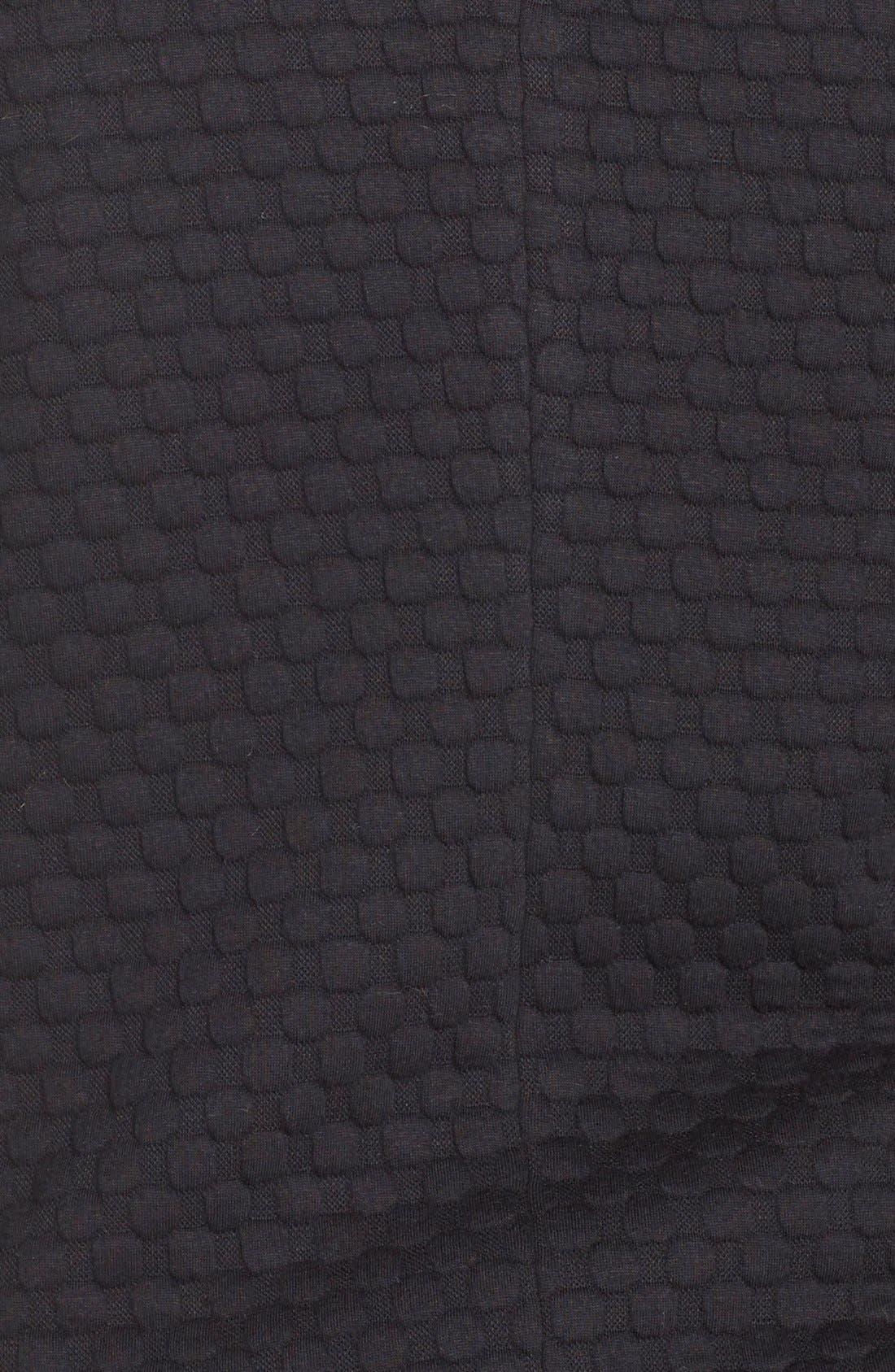 'Bridgette' Textured KnitJacket,                             Alternate thumbnail 3, color,                             Black Bubble