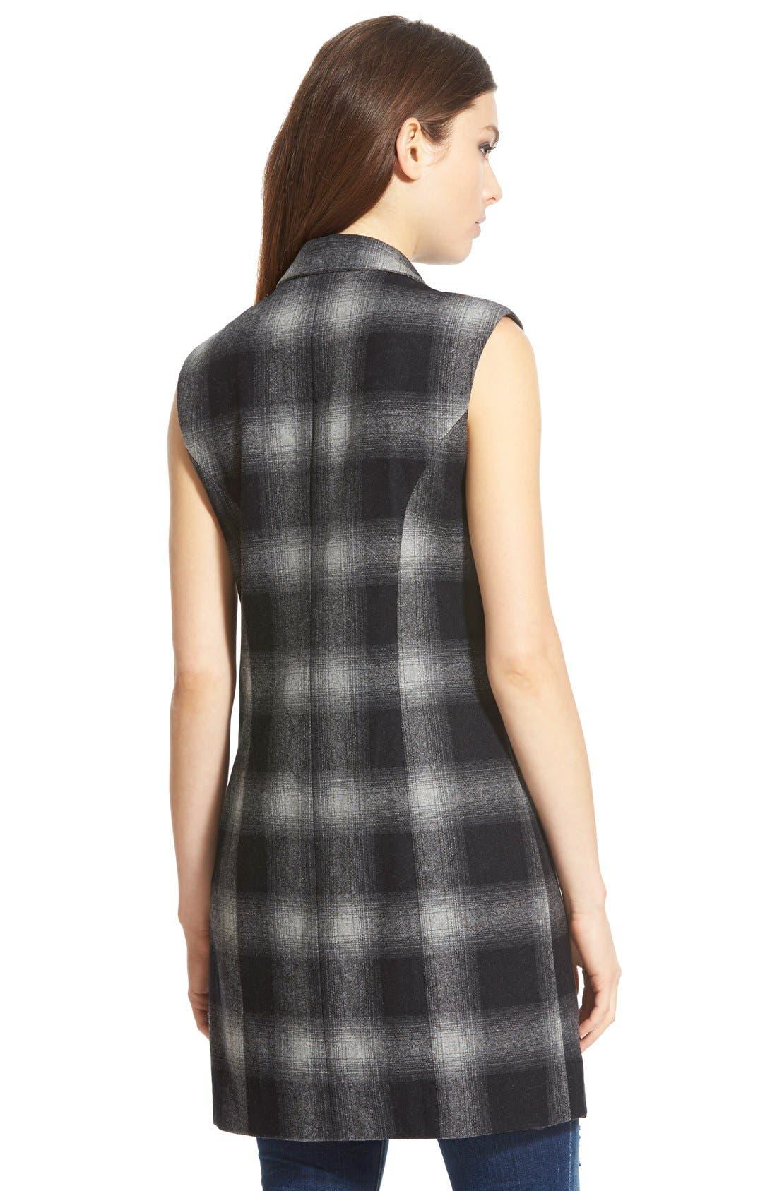 Alternate Image 3  - WAYFPlaidLong Vest
