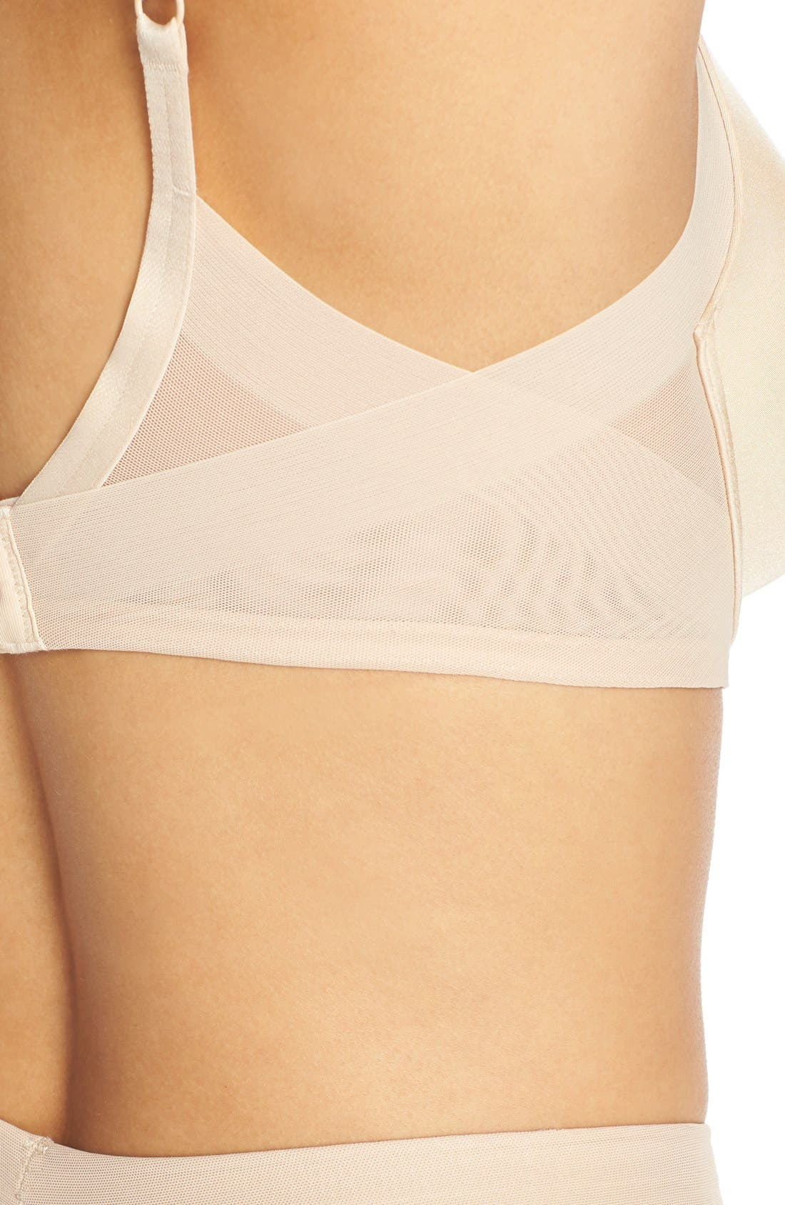 Ultimate Side Smoother Underwire T-Shirt Bra,                             Alternate thumbnail 5, color,                             Sand