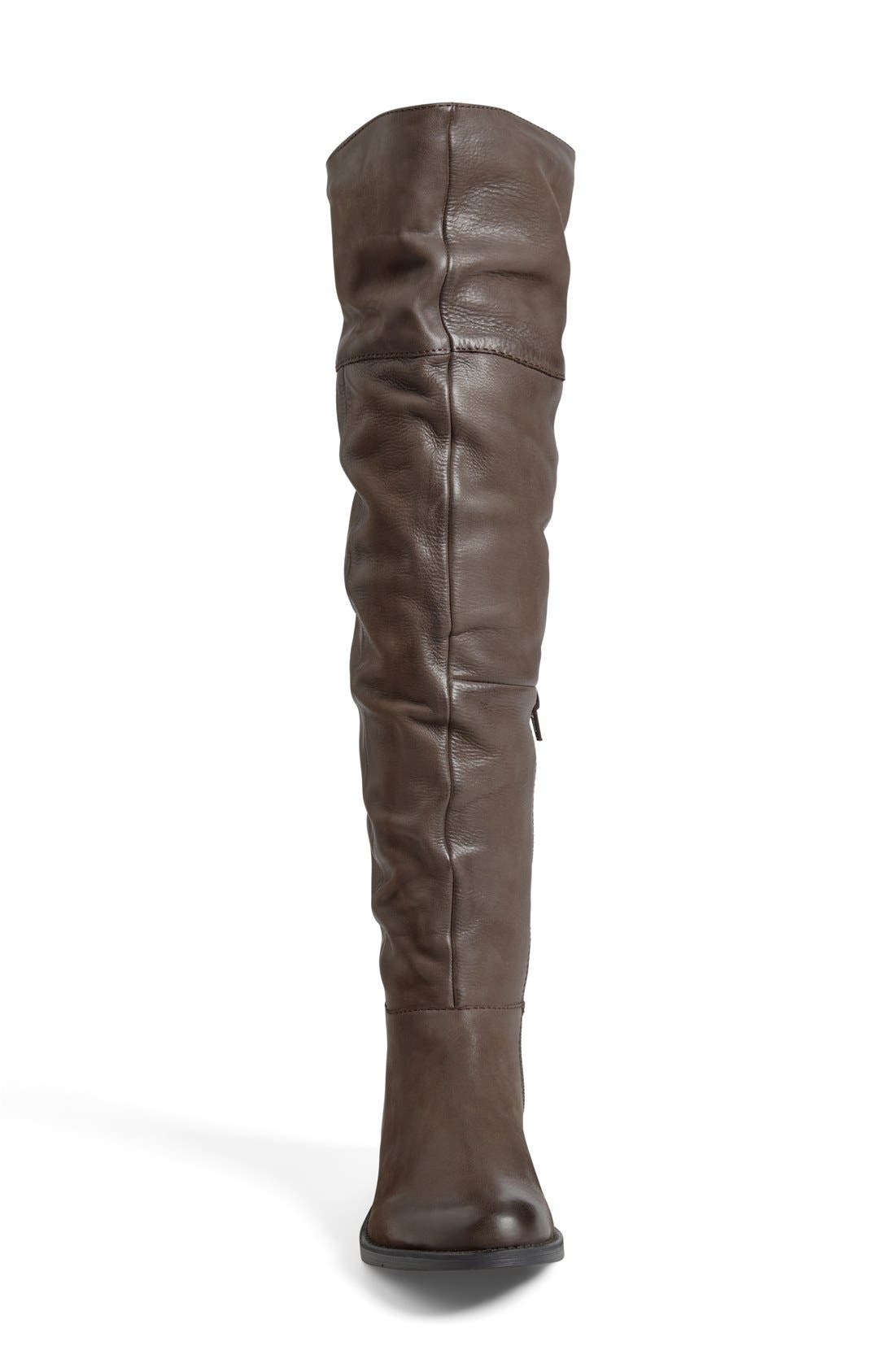 'Heisnbrg' Leather Over the Knee Boot,                             Alternate thumbnail 4, color,                             Brown Leather