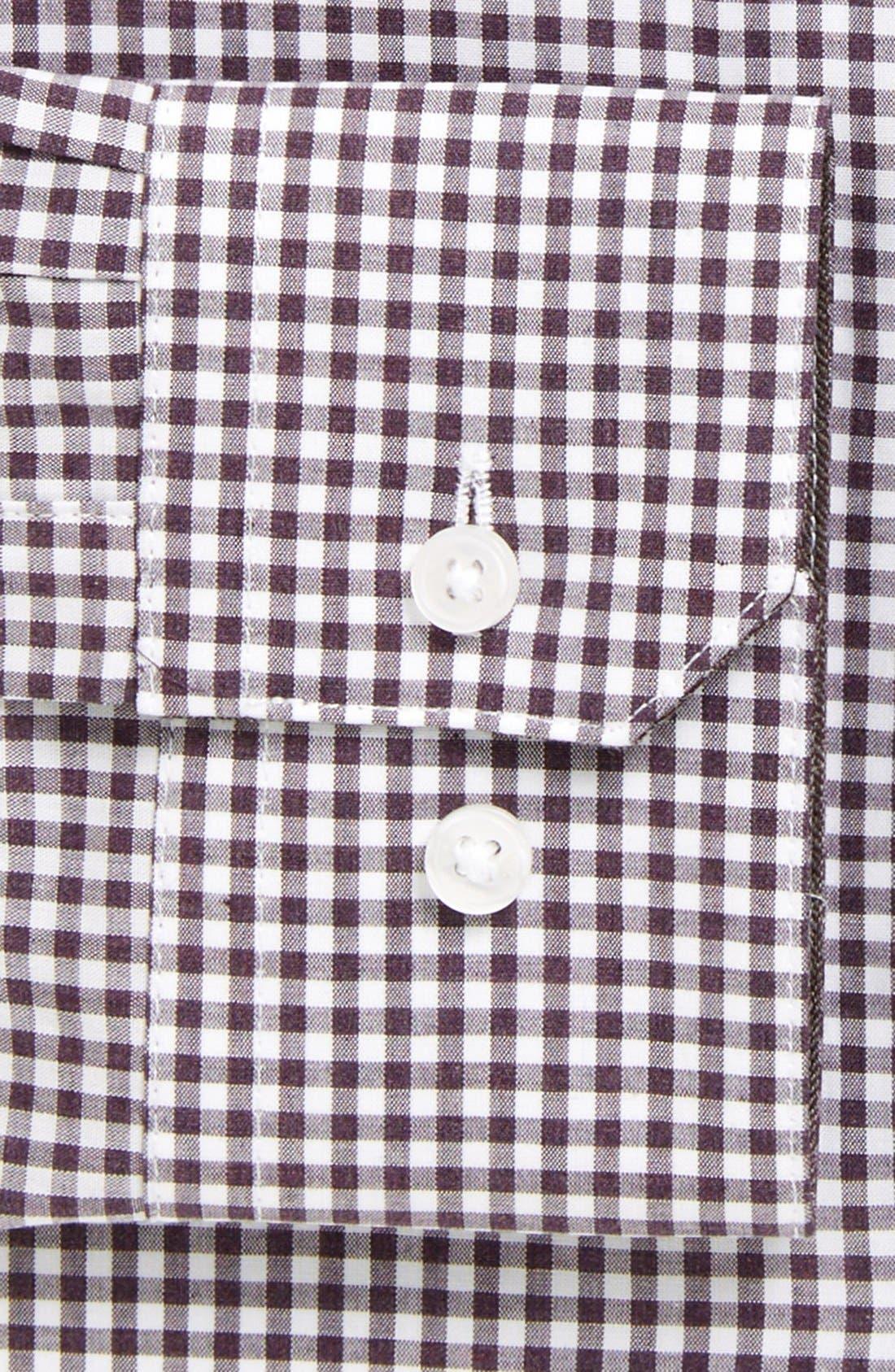 Extra Trim Fit Check Dress Shirt,                             Alternate thumbnail 2, color,                             Plum