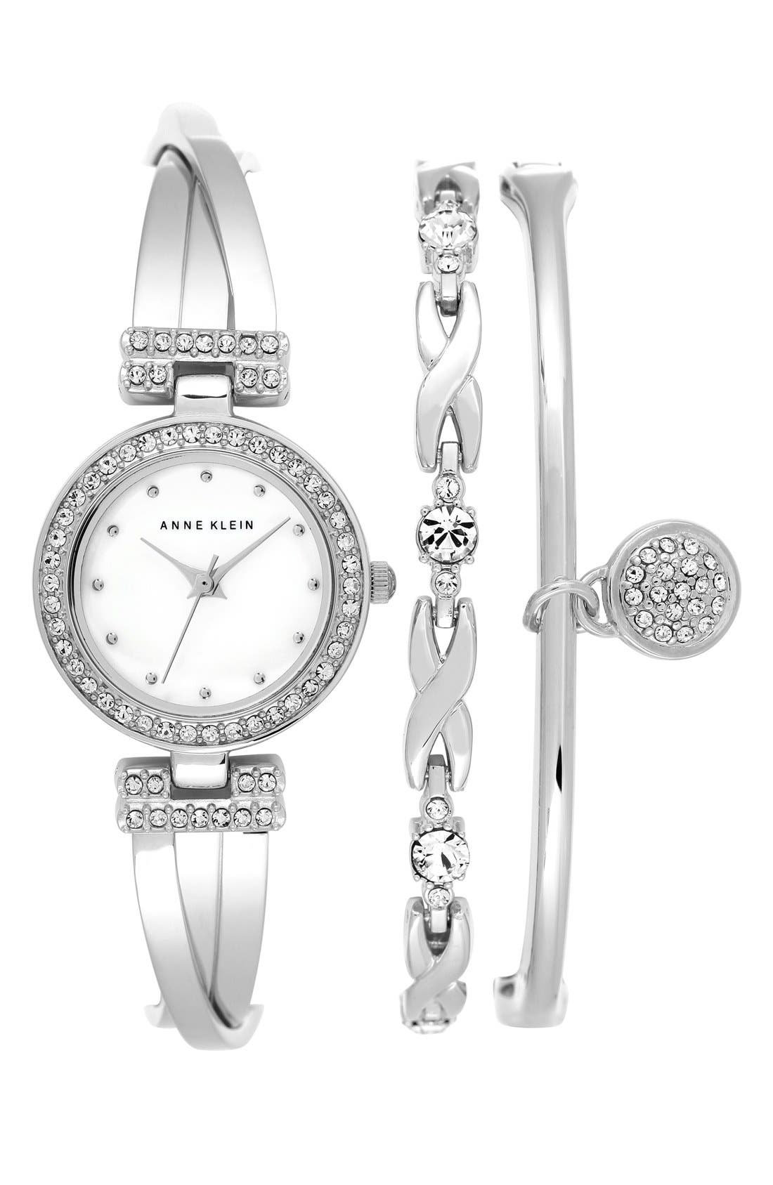 Anne Klein Boxed Bracelet & Bangle Set, 24mm