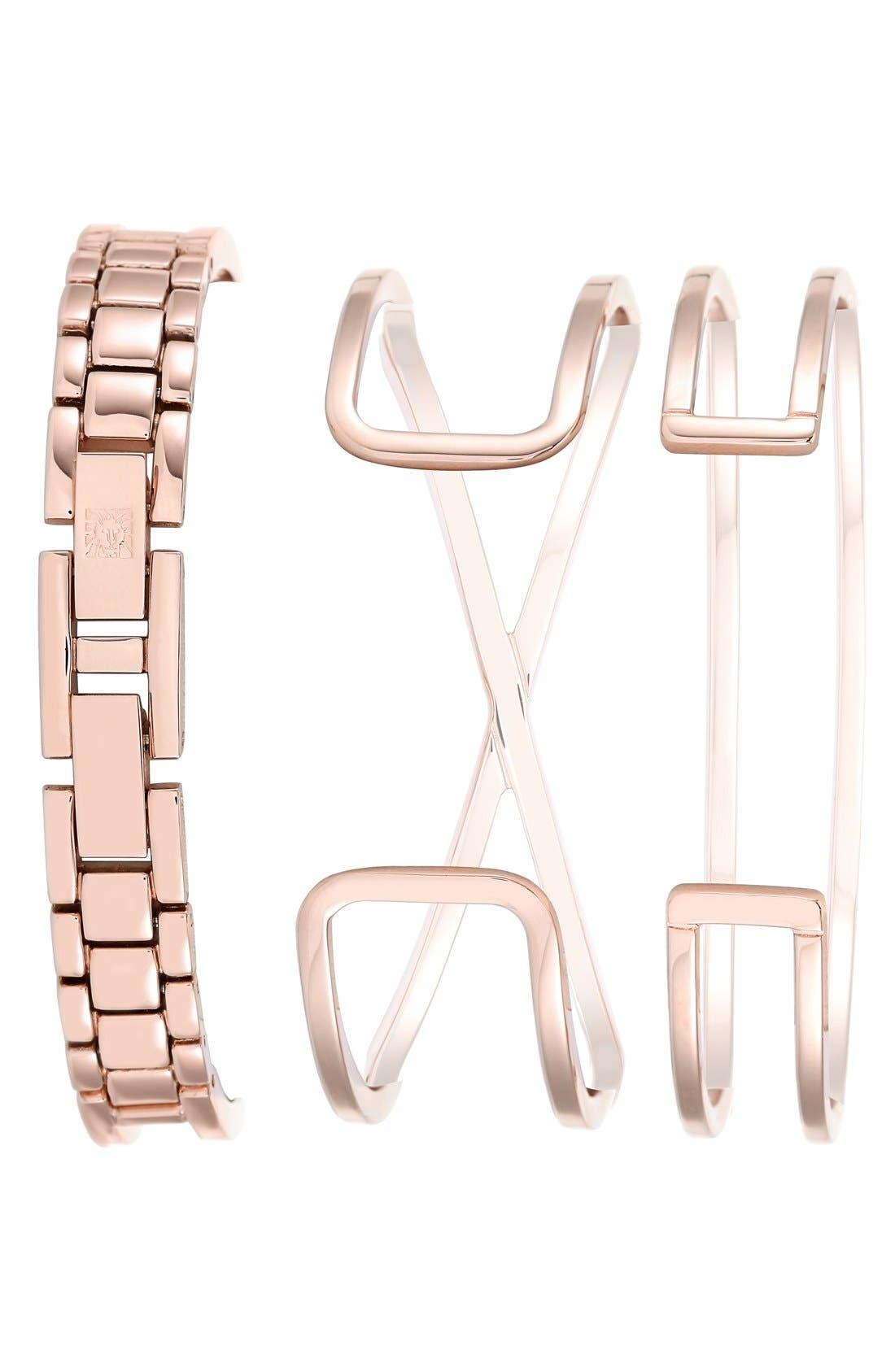 Alternate Image 2  - Anne Klein Boxed Bracelet & Bangle Watch Set, 26mm