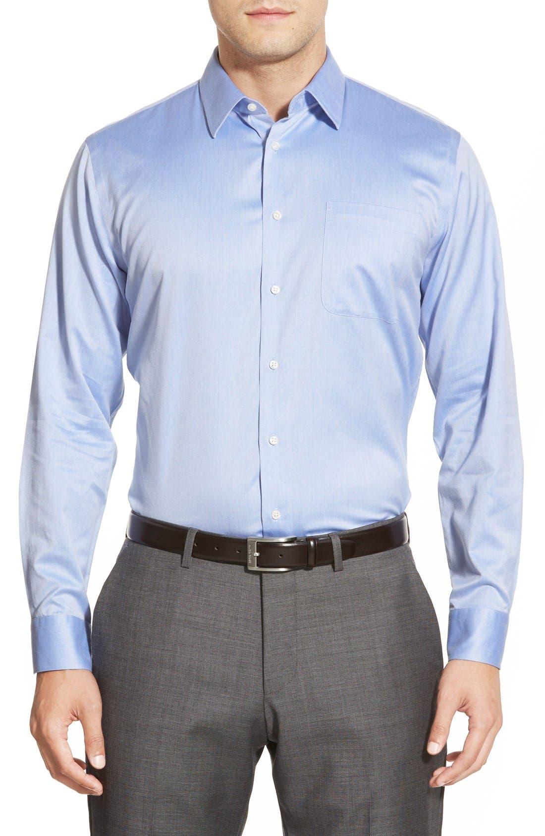 Alternate Image 2  - Nordstrom Men's Shop Smartcare™ Trim Fit Twill Dress Shirt