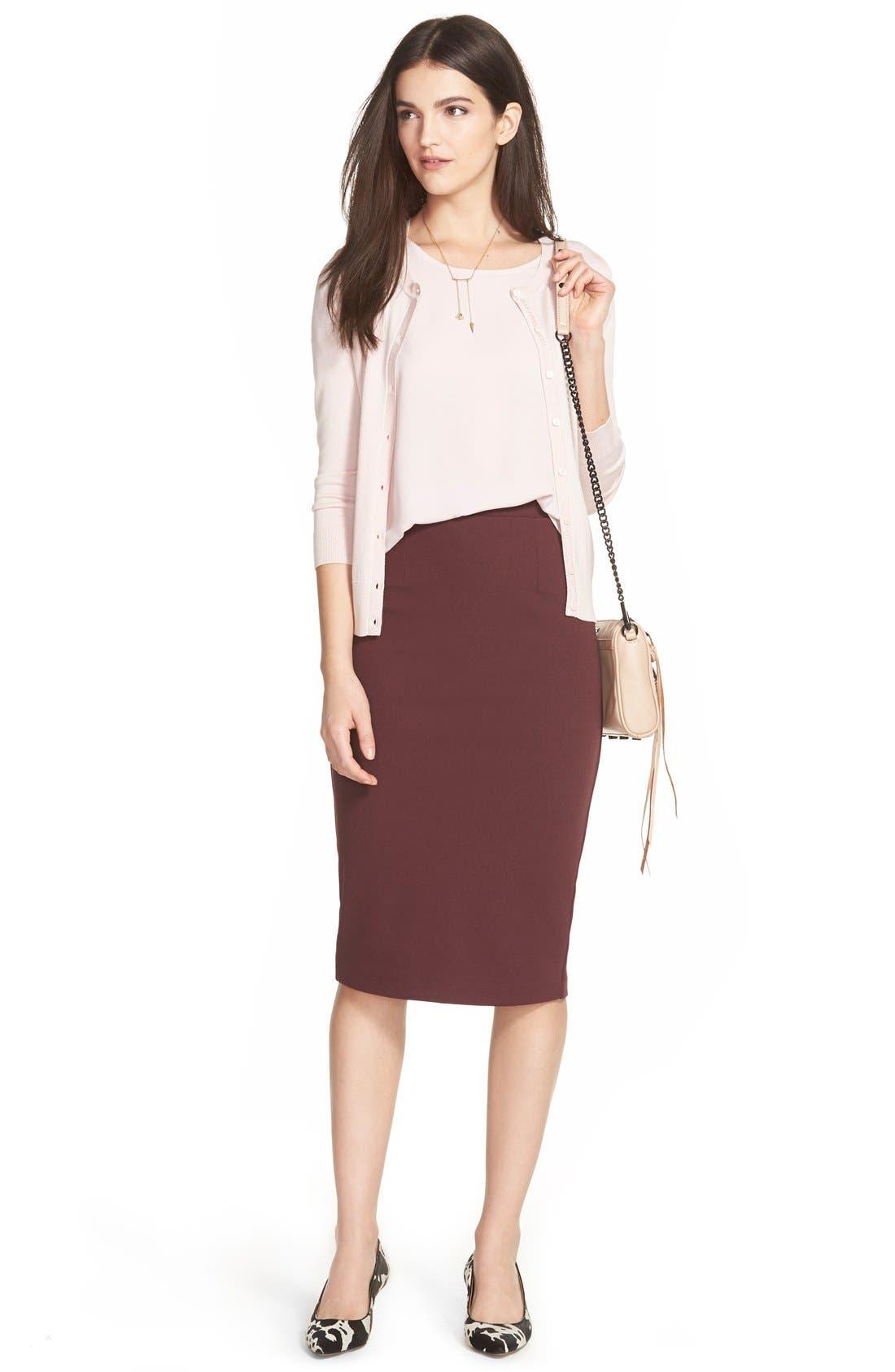 Halogen® Cardigan & Skirt