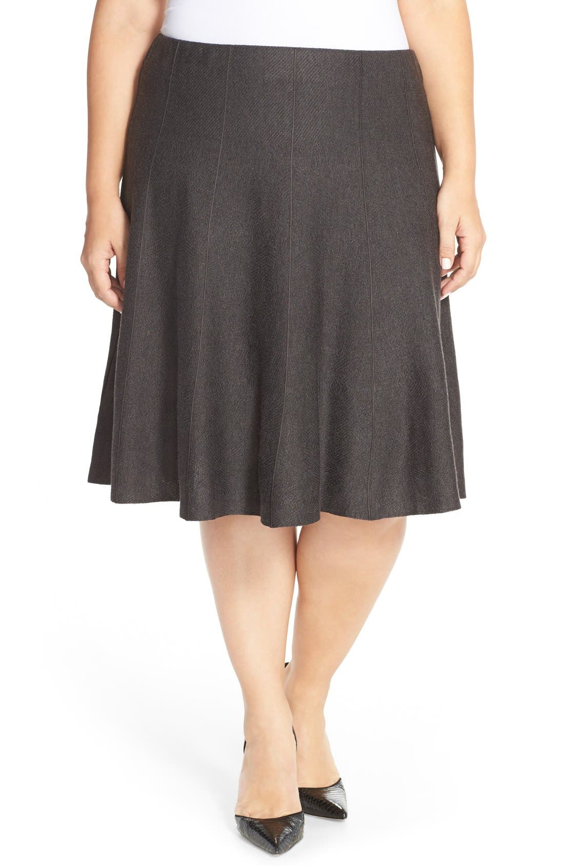 NIC+ZOE 'Twirl Flirt' Paneled Skirt (Plus Size)