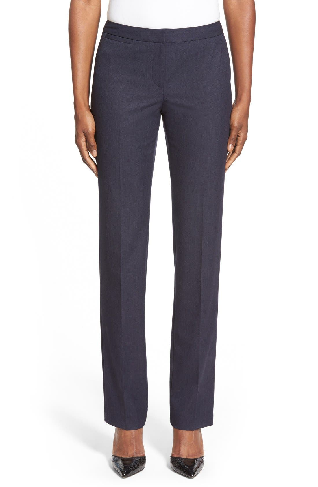 Main Image - Halogen® 'Taylor' Stretch SuitPants (Regular & Petite)