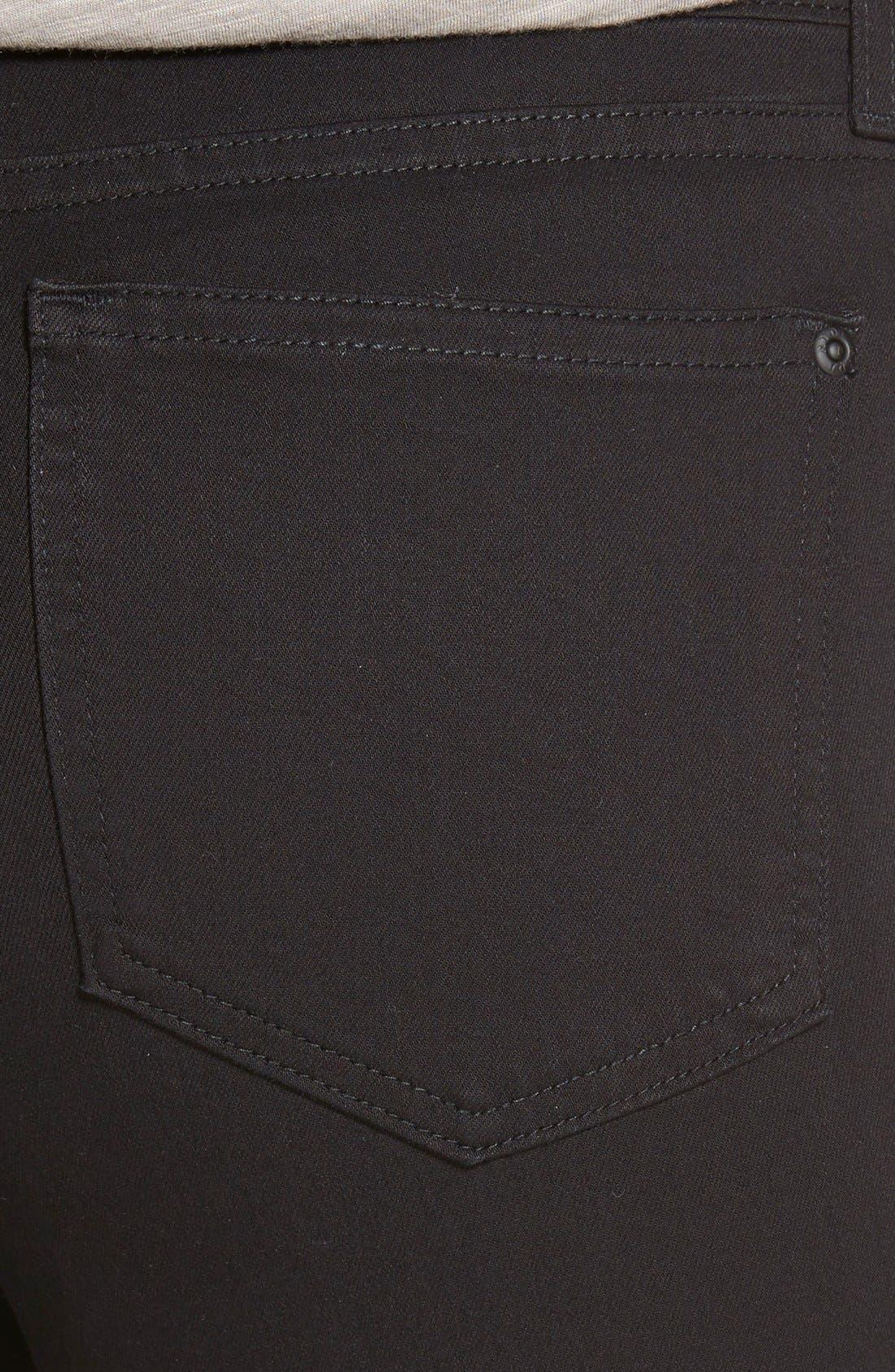 Ami Stretch Skinny Jeans,                             Alternate thumbnail 4, color,                             Black