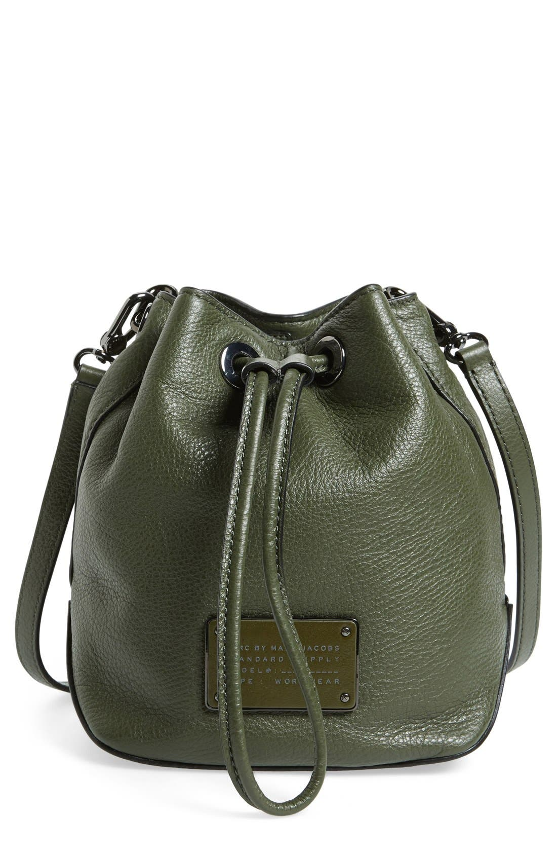 Alternate Image 1 Selected - MARC BY MARC JACOBS 'New Too Hot to Handle' Leather Bucket Bag