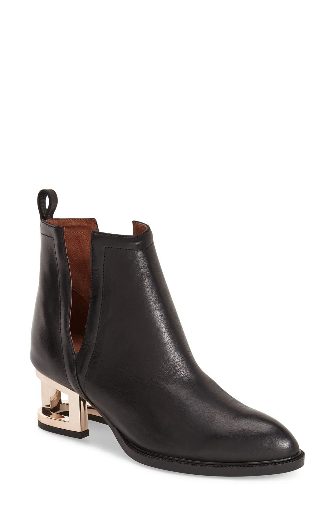Alternate Image 1 Selected - Jeffrey Campbell 'Musk' Cage Heel Ankle Boot (Women)