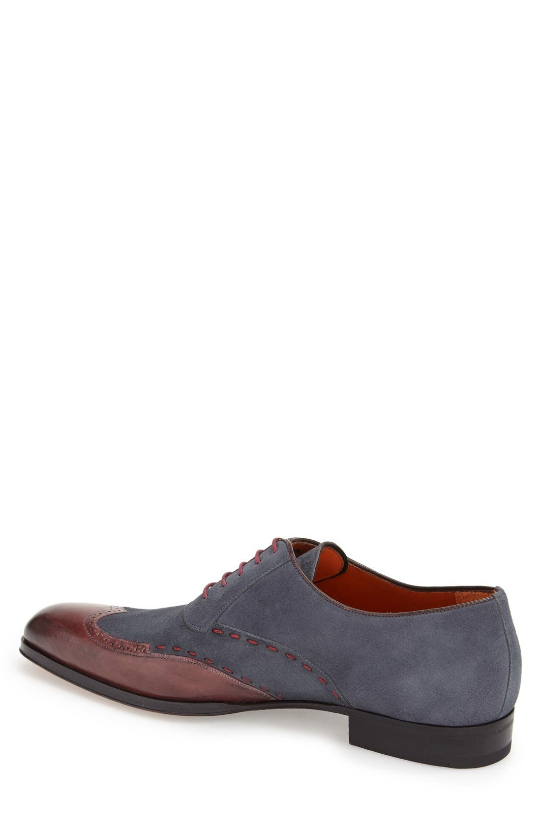 'Ronda' Spectator Shoe,                             Alternate thumbnail 2, color,                             Burgundy/ Grey