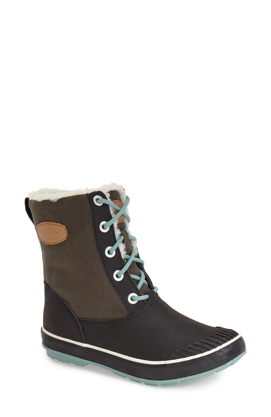 'Elsa' Waterproof Boot,                         Main,                         color, Forset Night