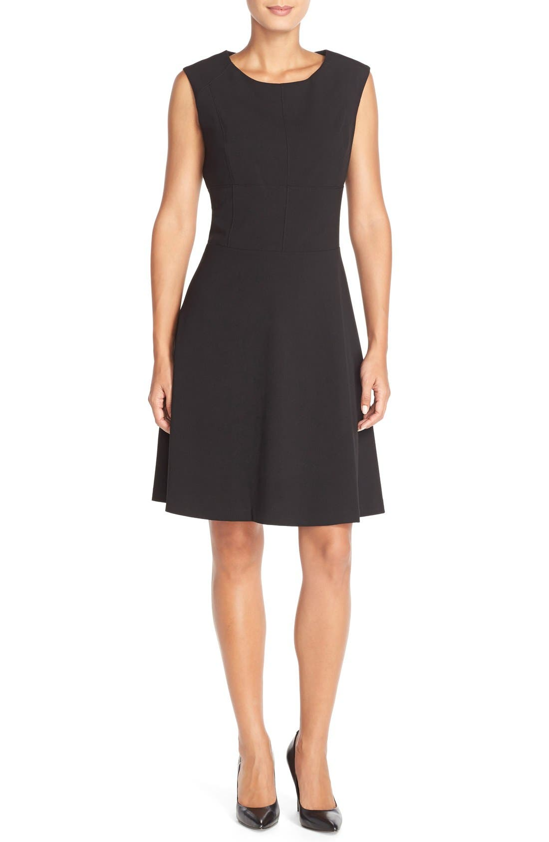 Alternate Image 4  - Marc New York 'Lux' Stretch Fit & Flare Dress