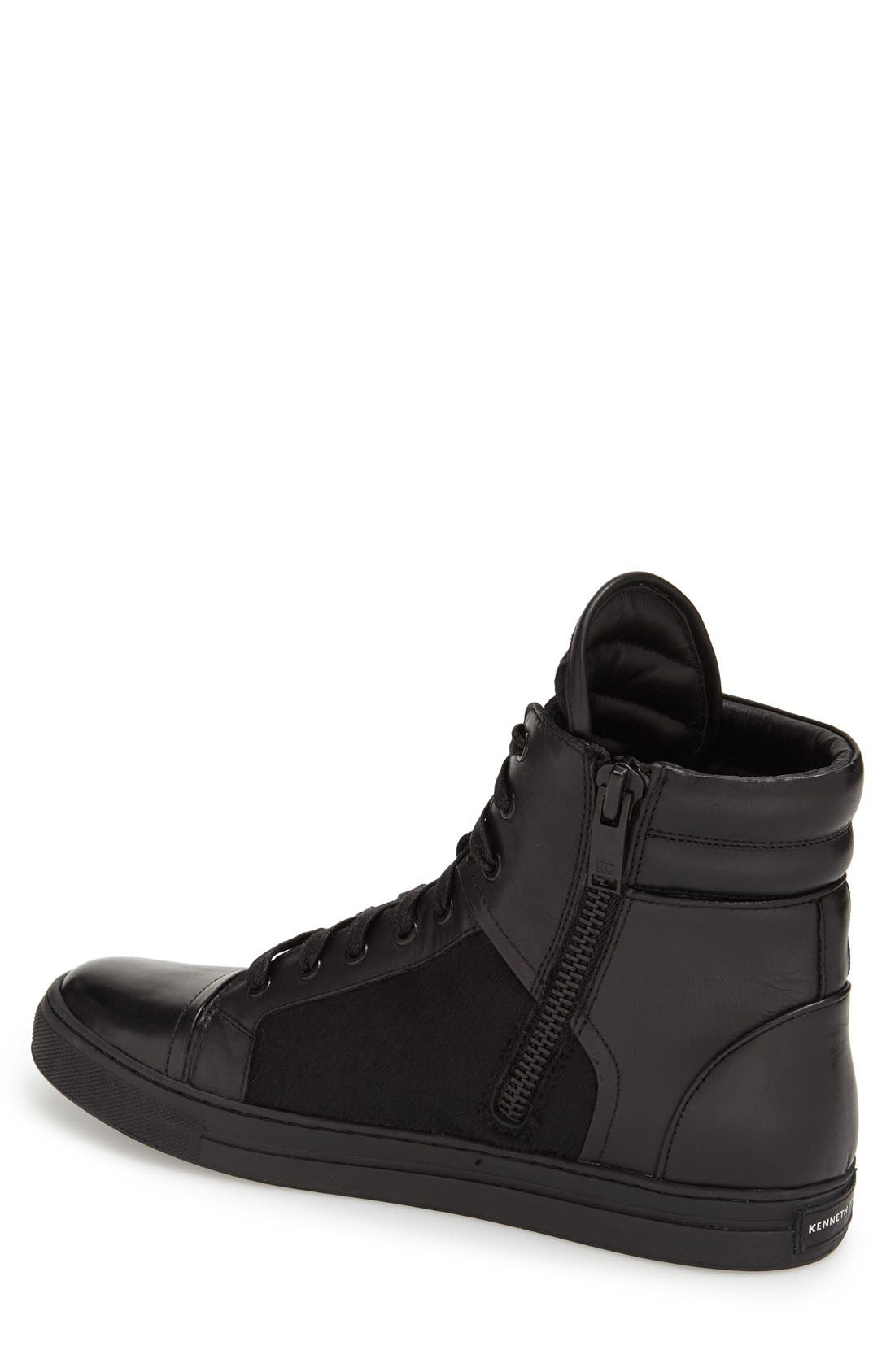 Alternate Image 2  - Kenneth Cole New York 'Double Over' ZipHigh Top Sneaker (Men)