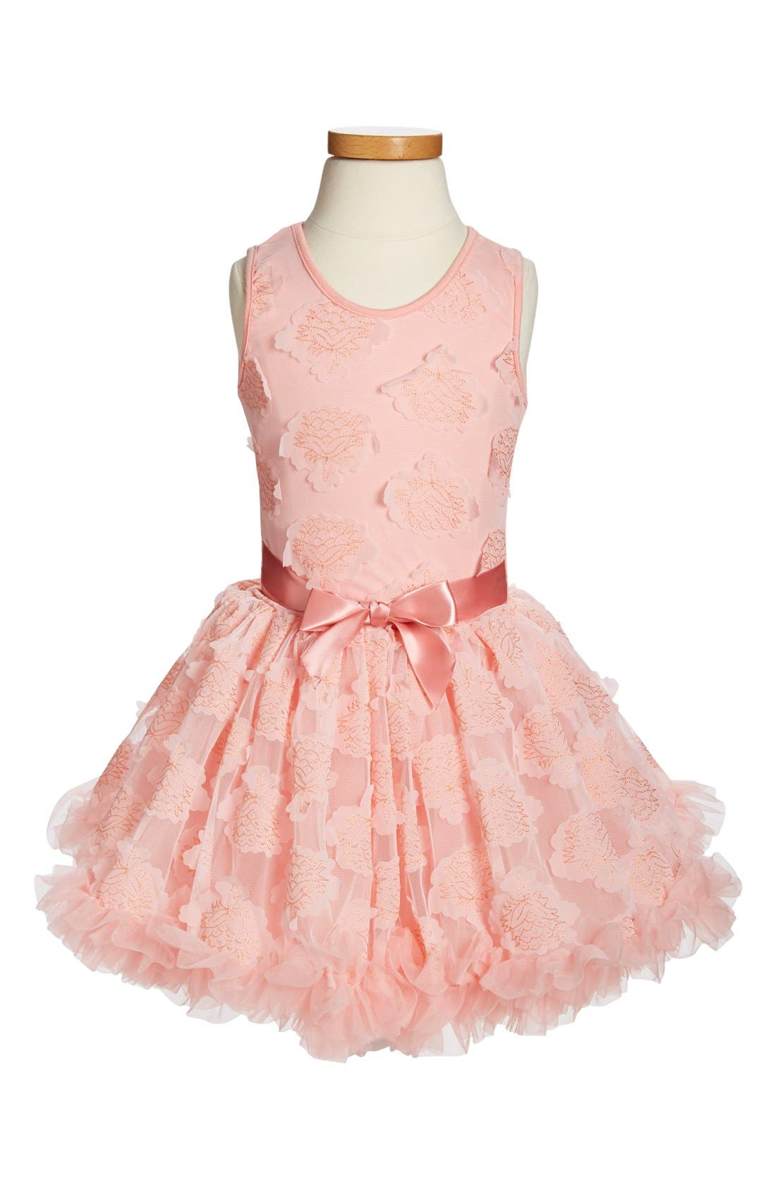 POPATU Peach Flower Petal Pettidress