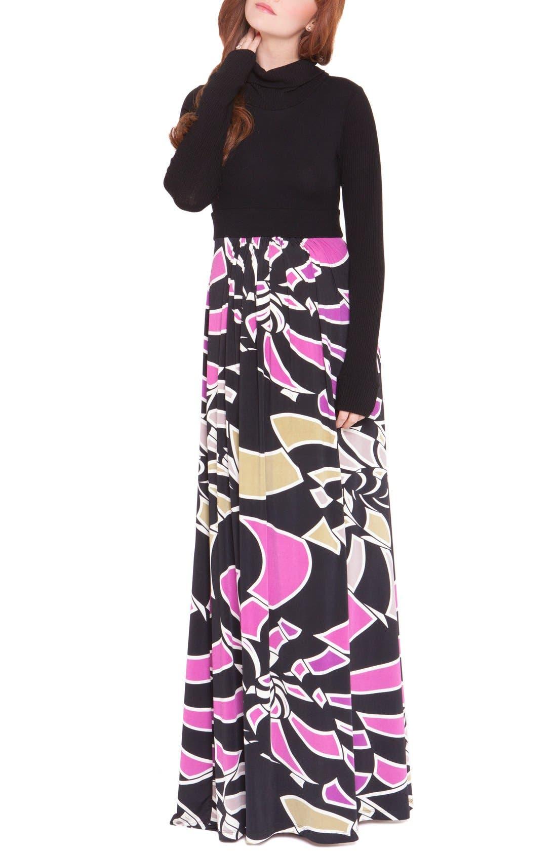 OLIAN Claire Maternity Maxi Dress
