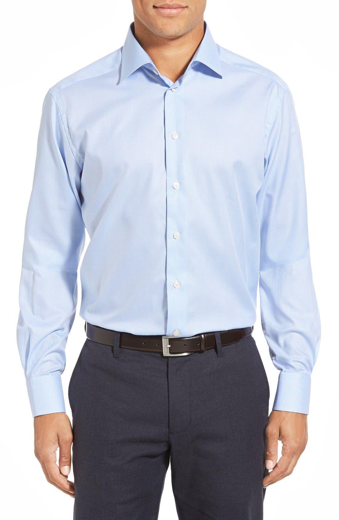Alternate Image 2  - Eton Contemporary Fit Houndstooth Dress Shirt