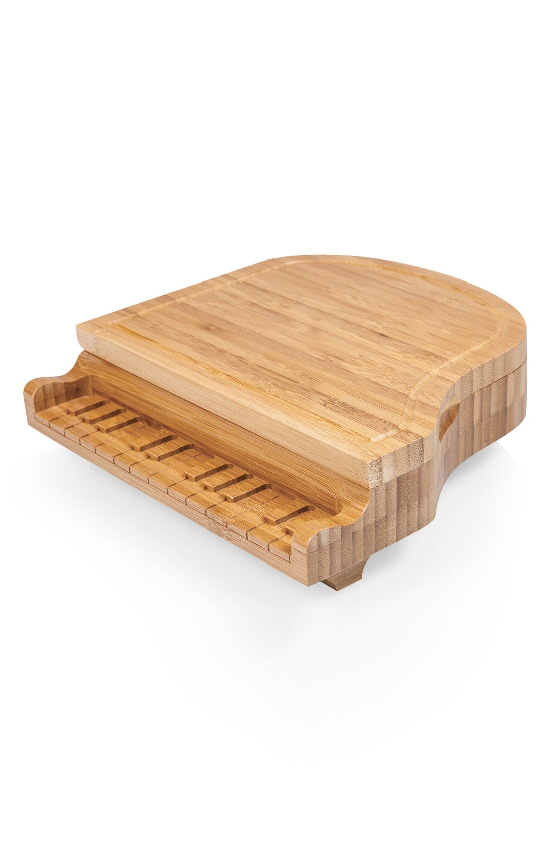 'Piano' Cheese Board Set,                             Alternate thumbnail 2, color,                             Brown
