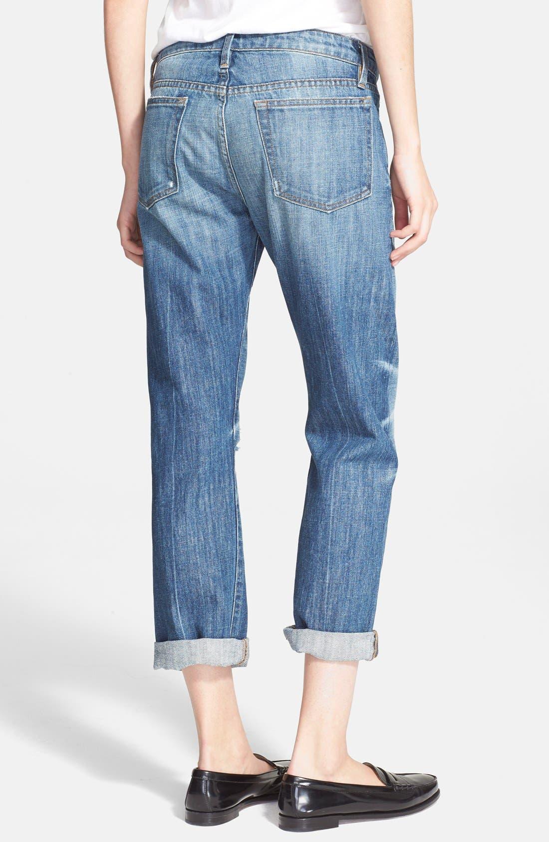 Alternate Image 2  - Frame Denim 'Le Grand Garcon' Destroyed BoyfriendJeans (Wagner)