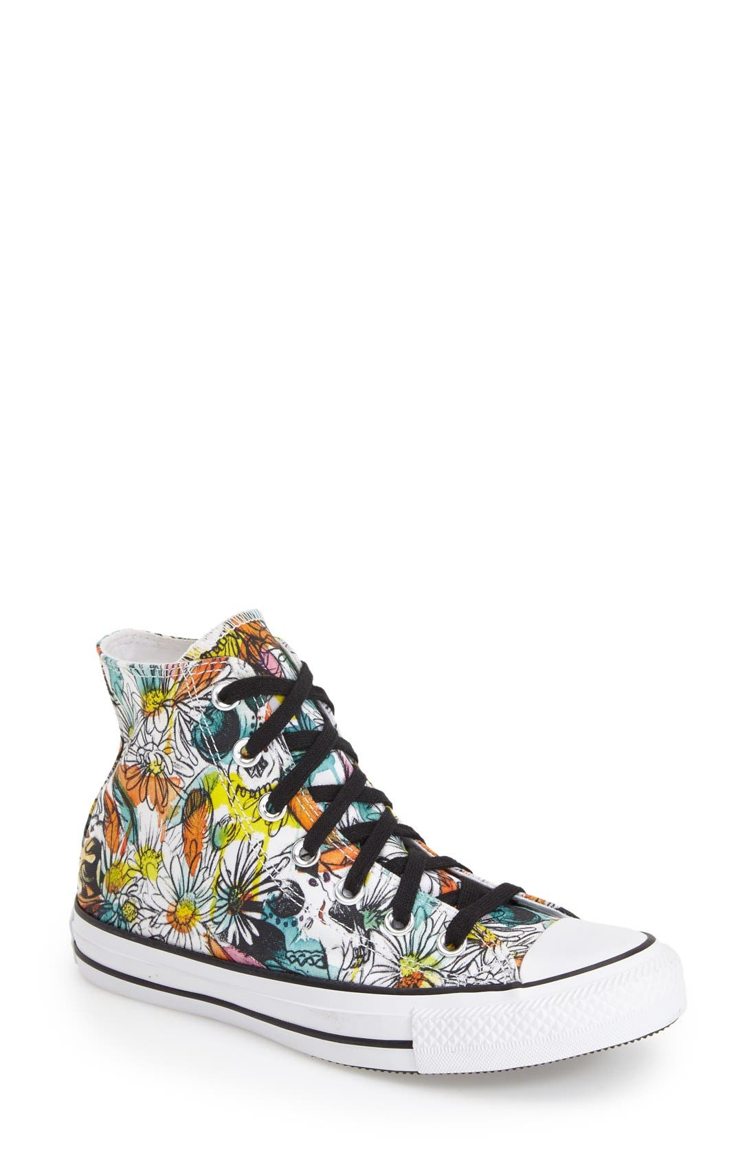 Alternate Image 1 Selected - Converse Chuck Taylor® All Star® 'Floral' High Top Sneaker (Women)