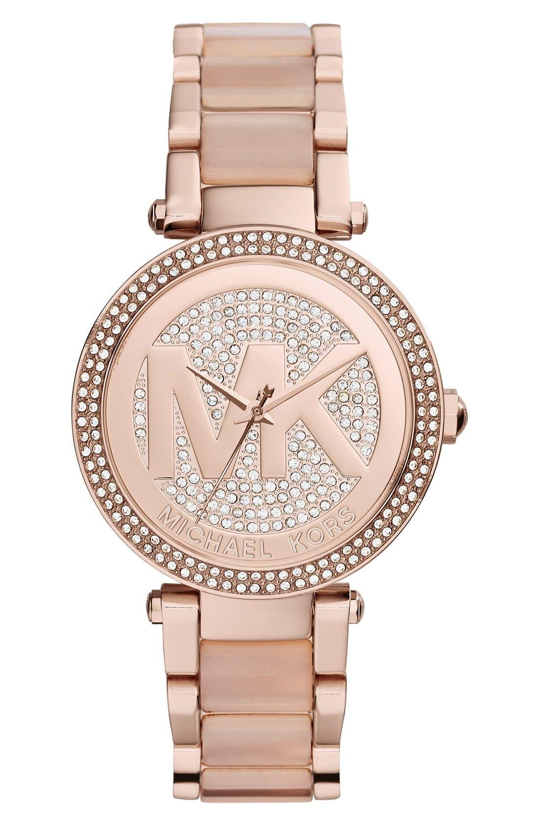 Main Image - Michael Kors'Parker' Bracelet Watch,39mm