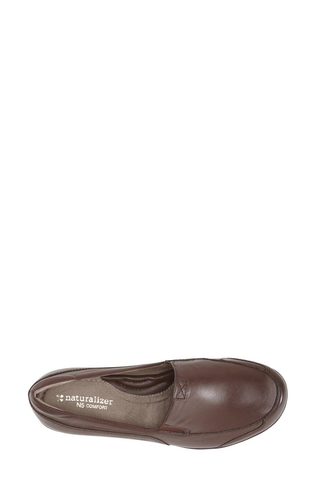 'Channing' Loafer,                             Alternate thumbnail 3, color,                             Bridal Brown