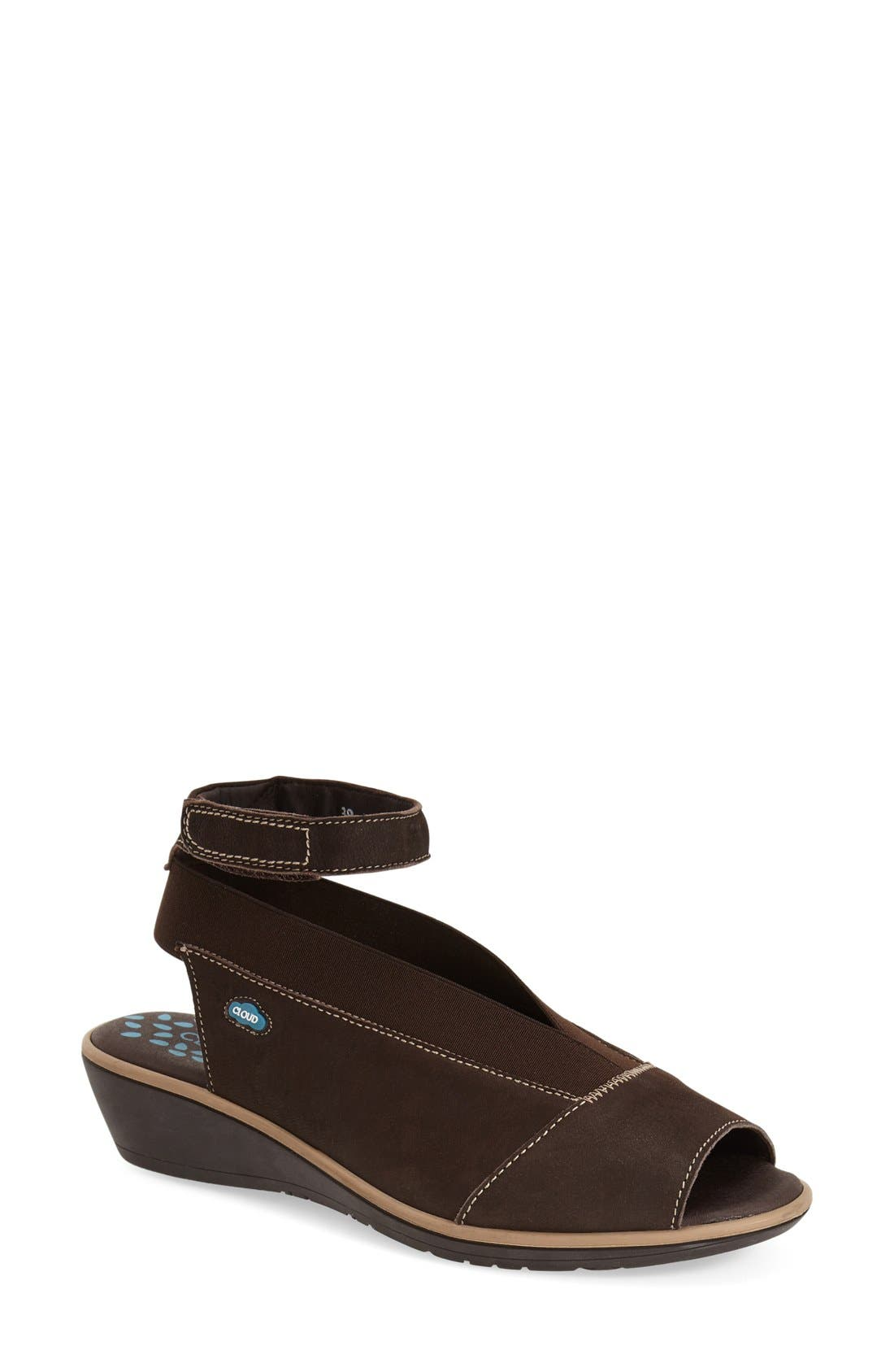 Main Image - CLOUD Saucy Ankle Strap Wedge (Women)