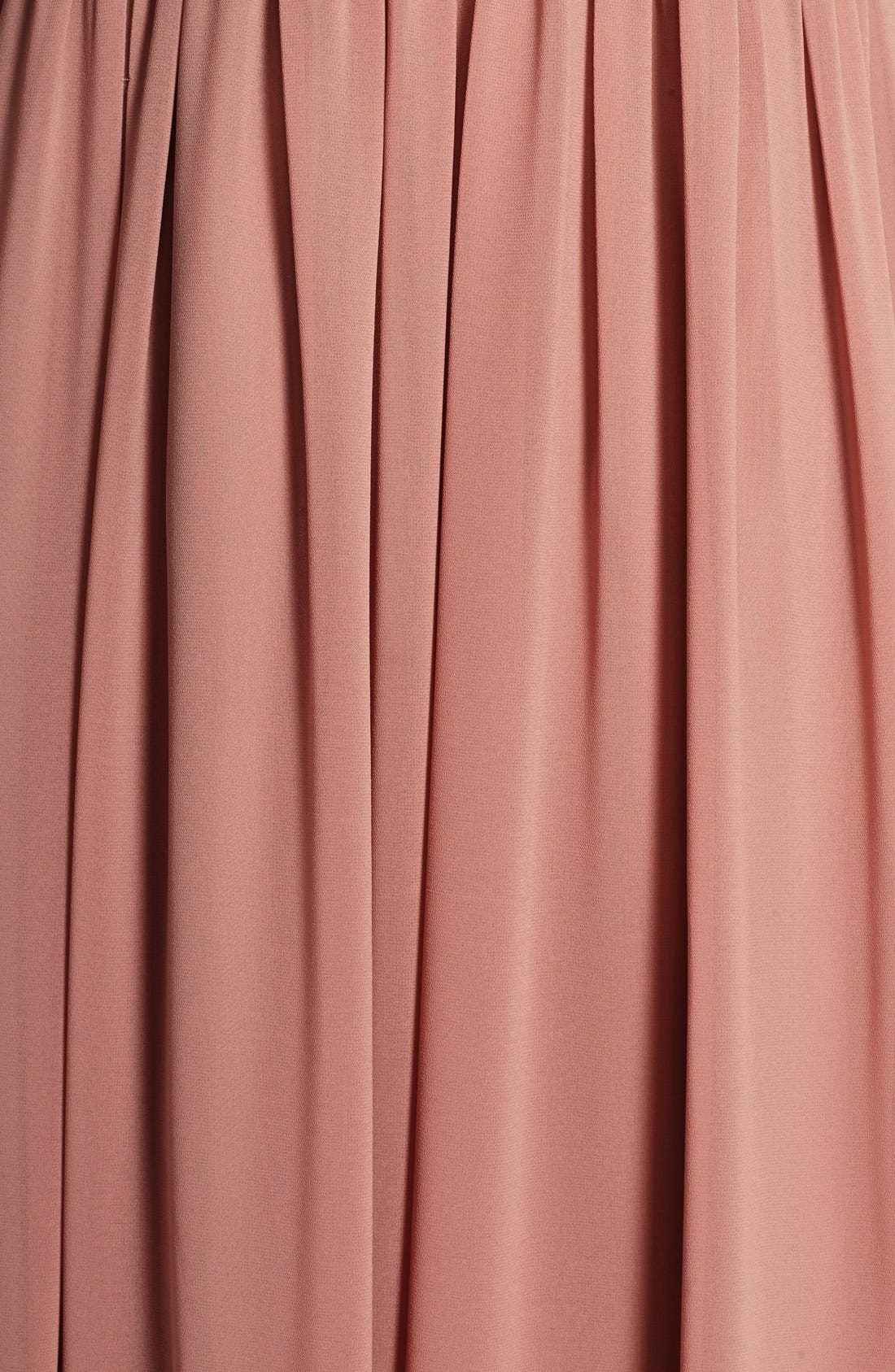 Alternate Image 4  - DonnaMorgan 'Hayley' Halter Style Pleat Chiffon Gown