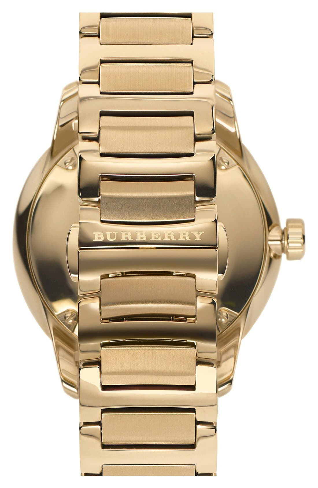 Alternate Image 2  - Burberry Check Stamped Bracelet Watch, 40mm